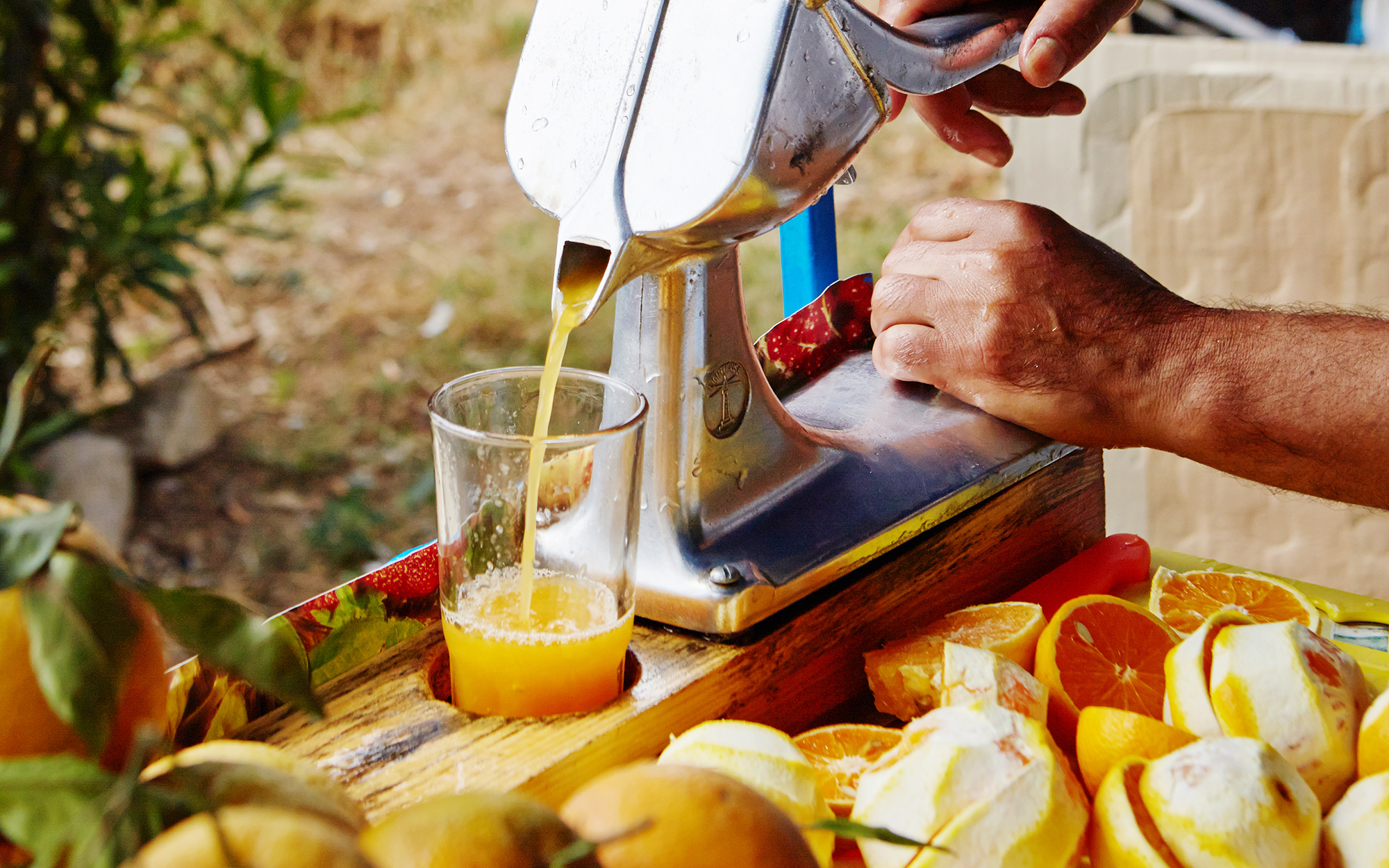 Orange Juice in Chefchaouen Morocco