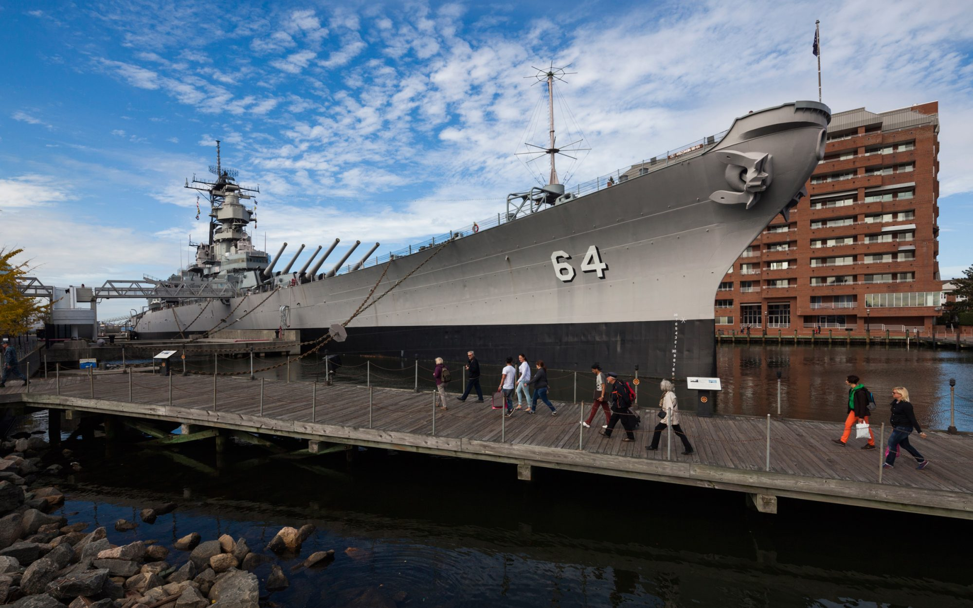 USS Wisconsin Battleship Norfolk Virginia