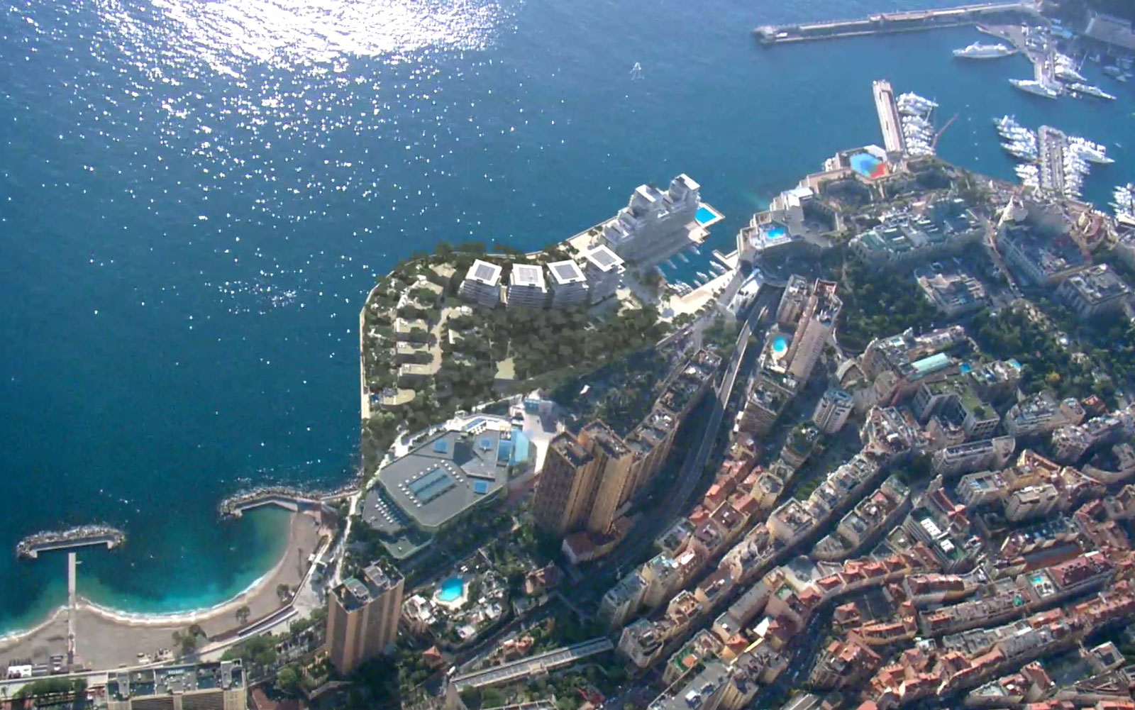 Luxury apartments will rise out of the sea by Monaco.