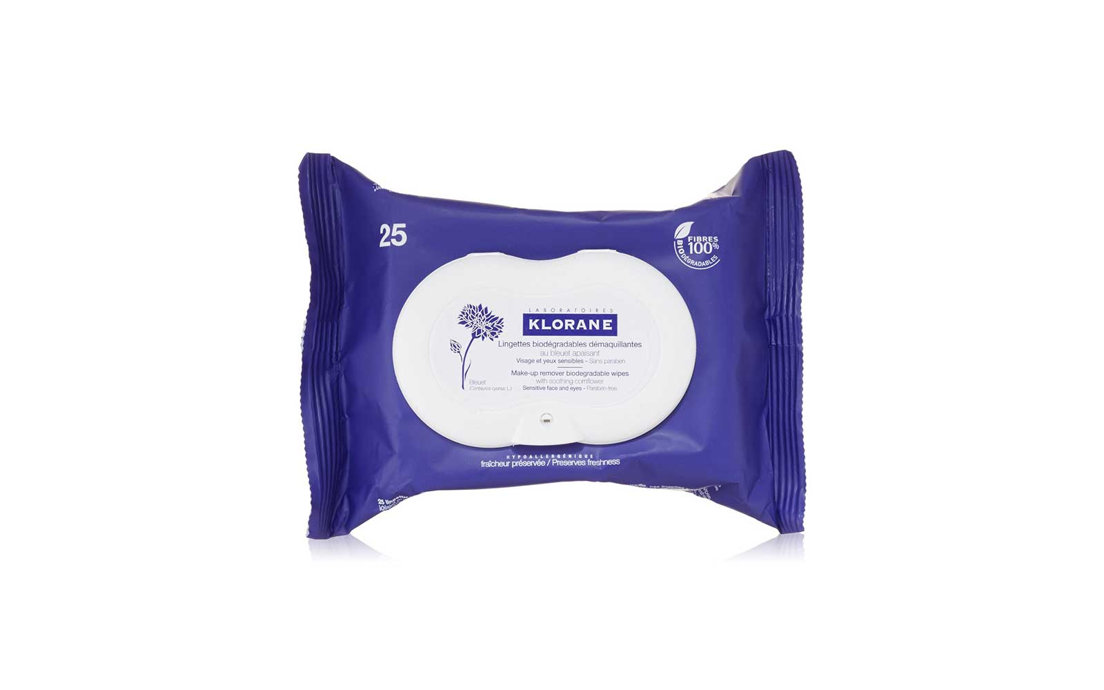 Klorane Make-Up Remover Biodegradable Wipes