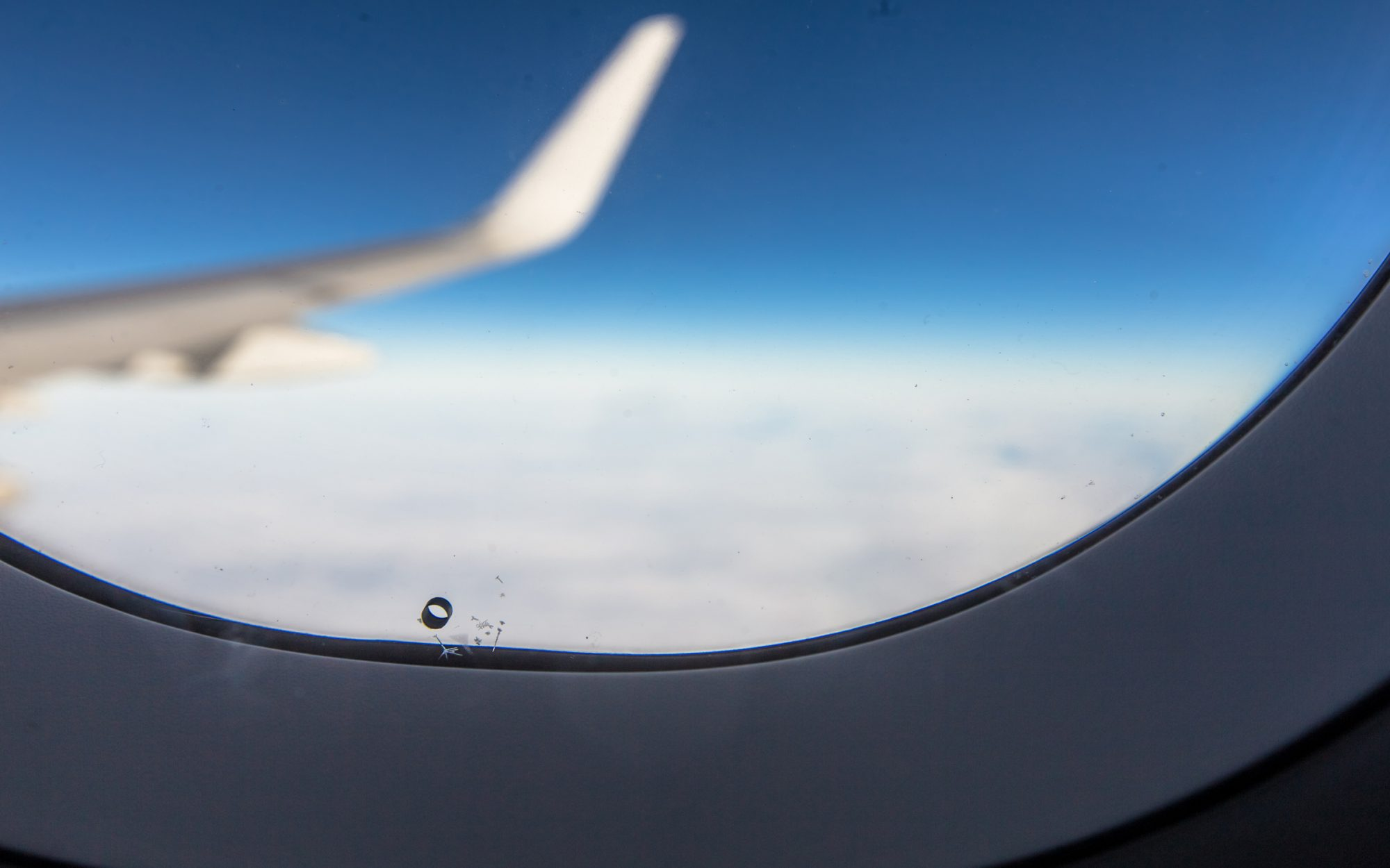 Airplane window hole