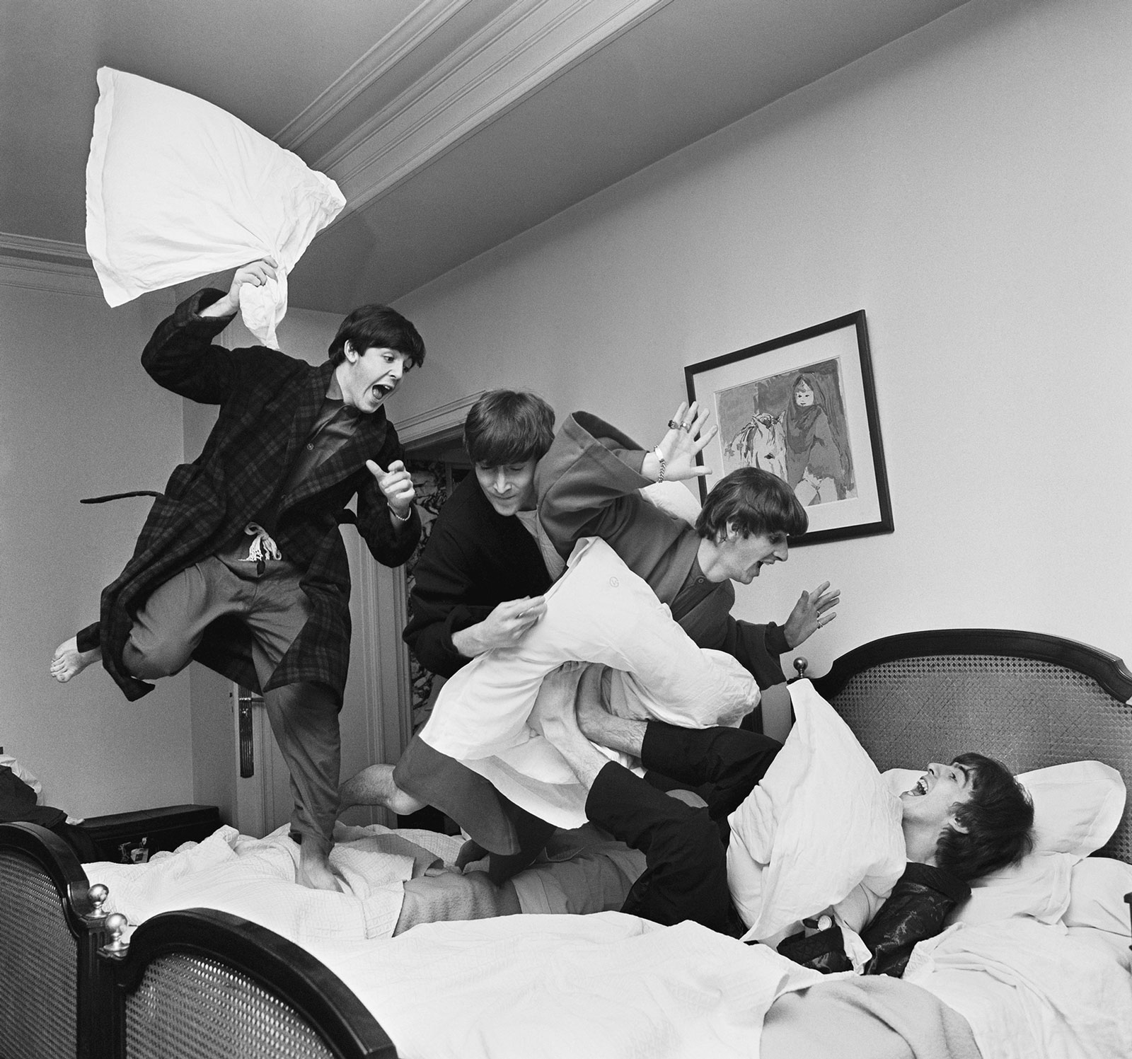 The pillow fight.