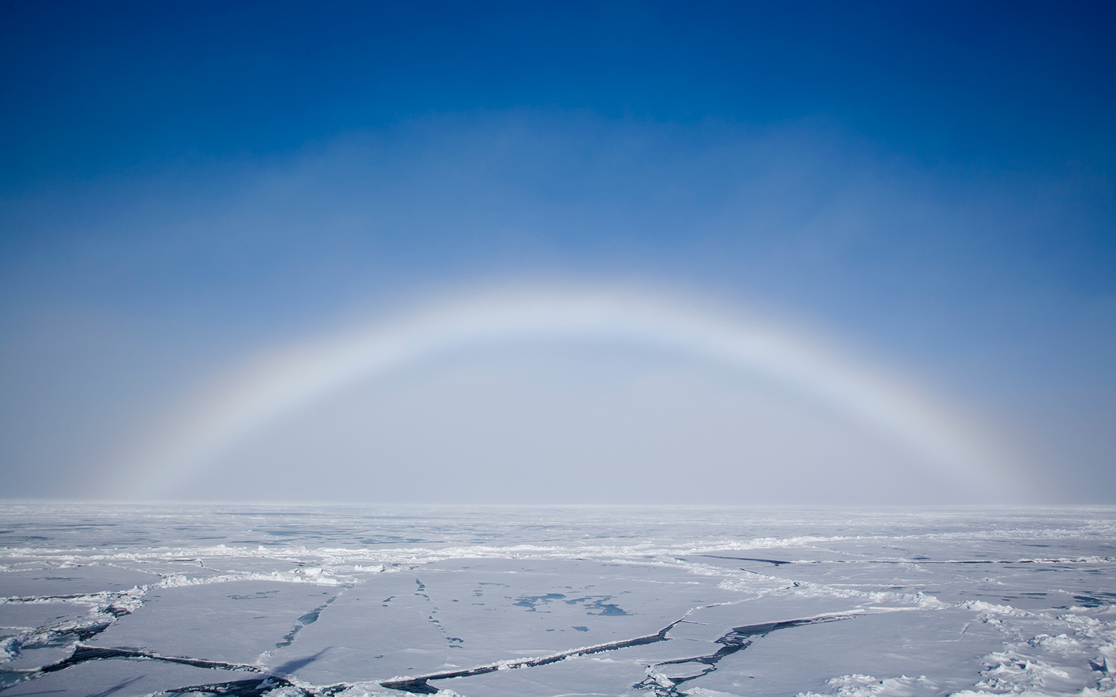 Fog Bow Over Ice
