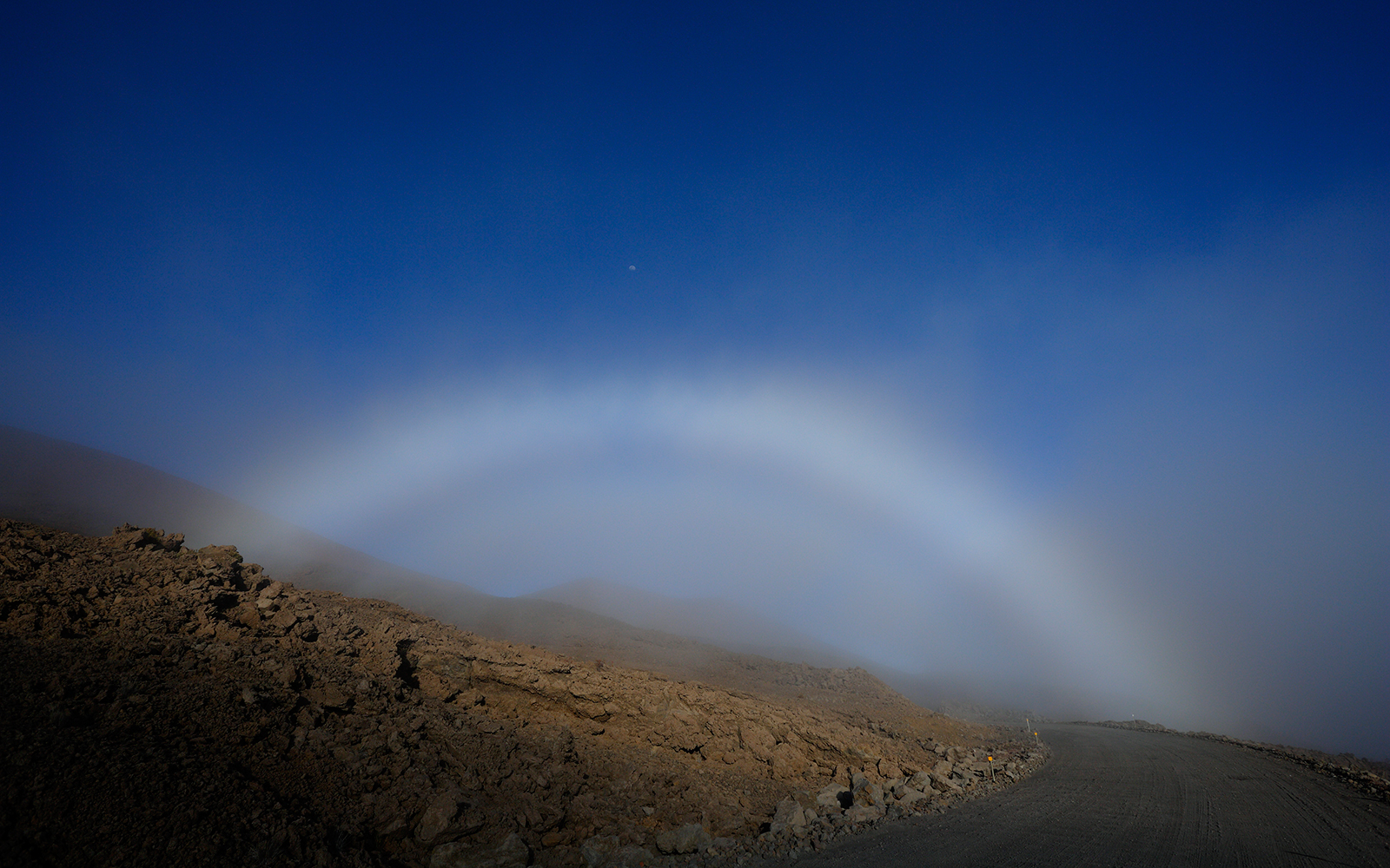 Fog Bow Over Road