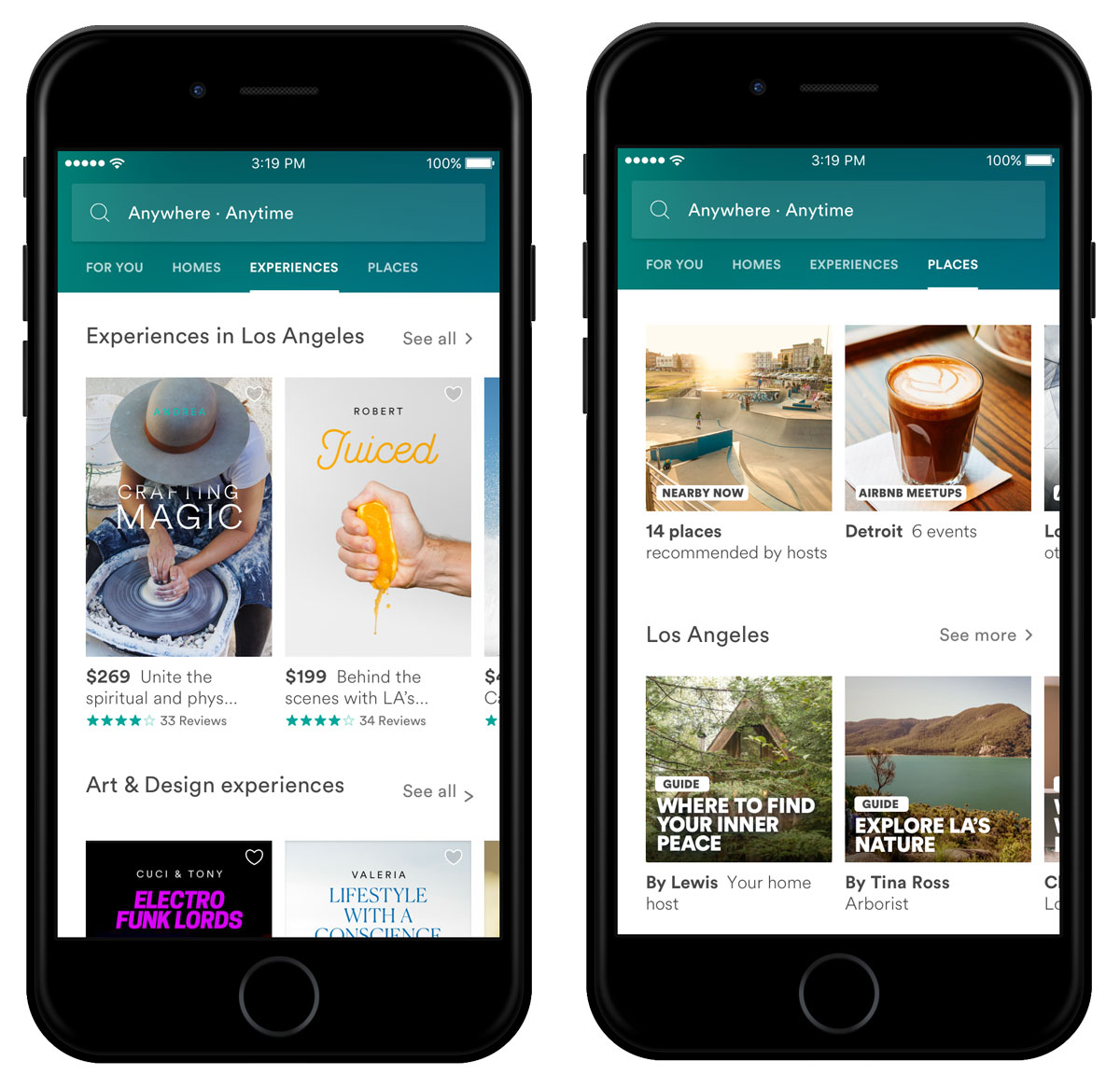 The Experiences offered give Airbnb users options for tours.
