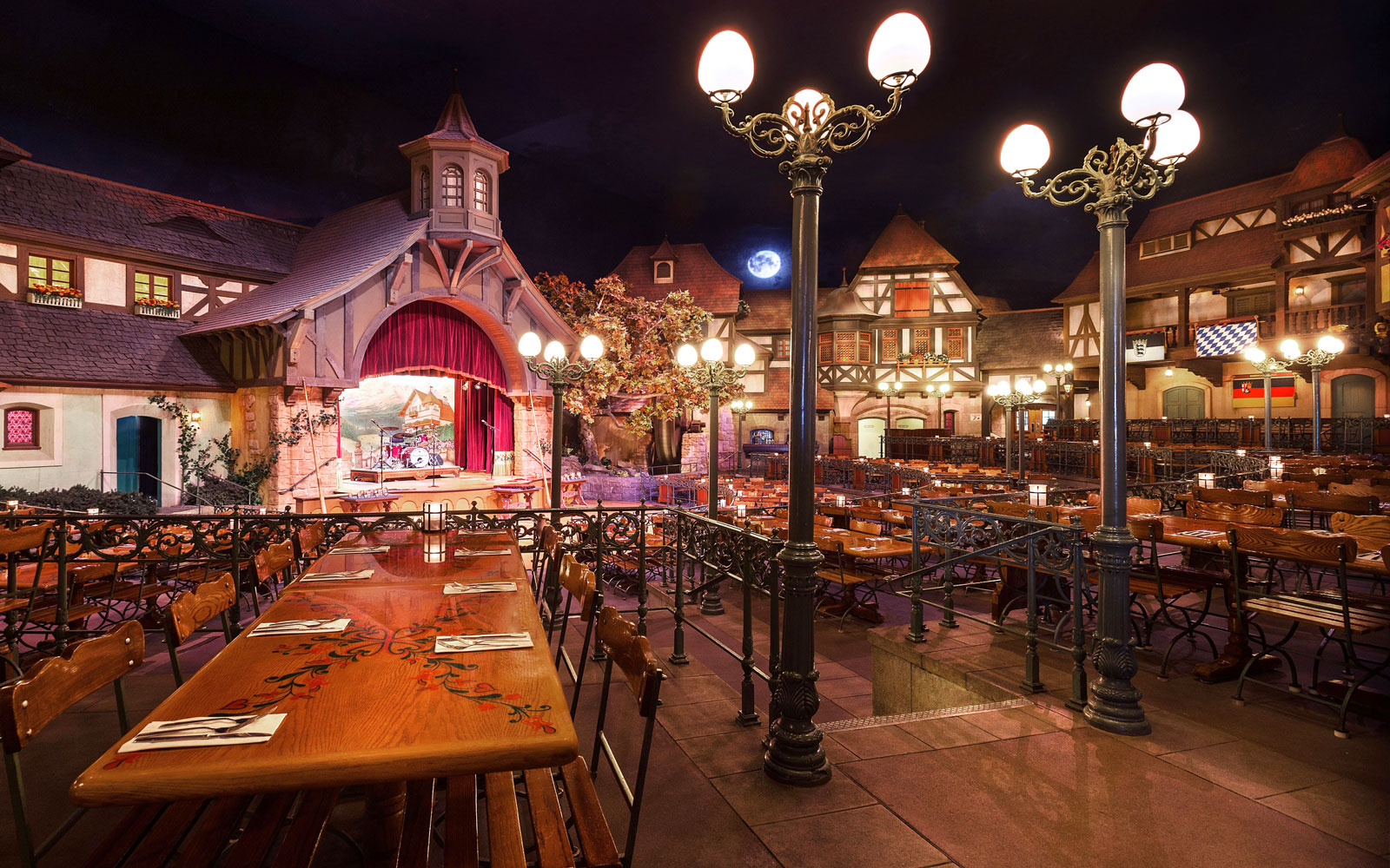Biergarten at Epcot in Disney World, FL