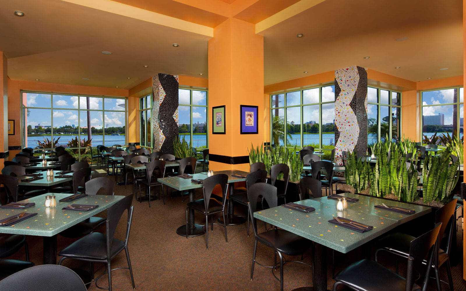 Dining room at Wolfgang Puck's Grand Cafe at Downtown Disney, FL