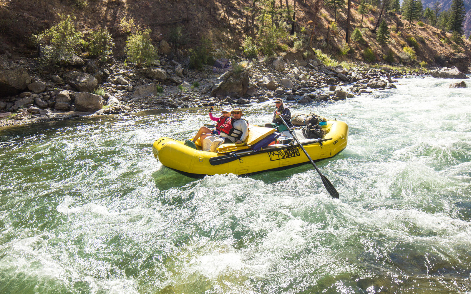 Go river rafting and see the eclipse.