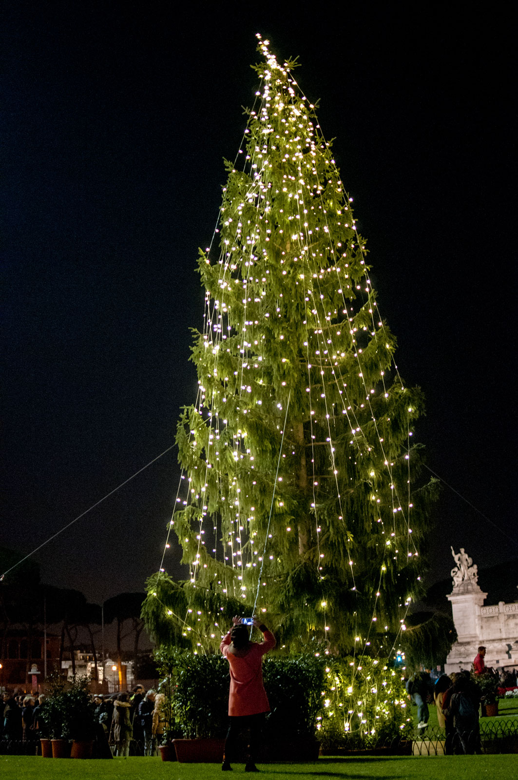 This Christmas tree, in Rome's Piazza Venezia, is getting hate from residents.
