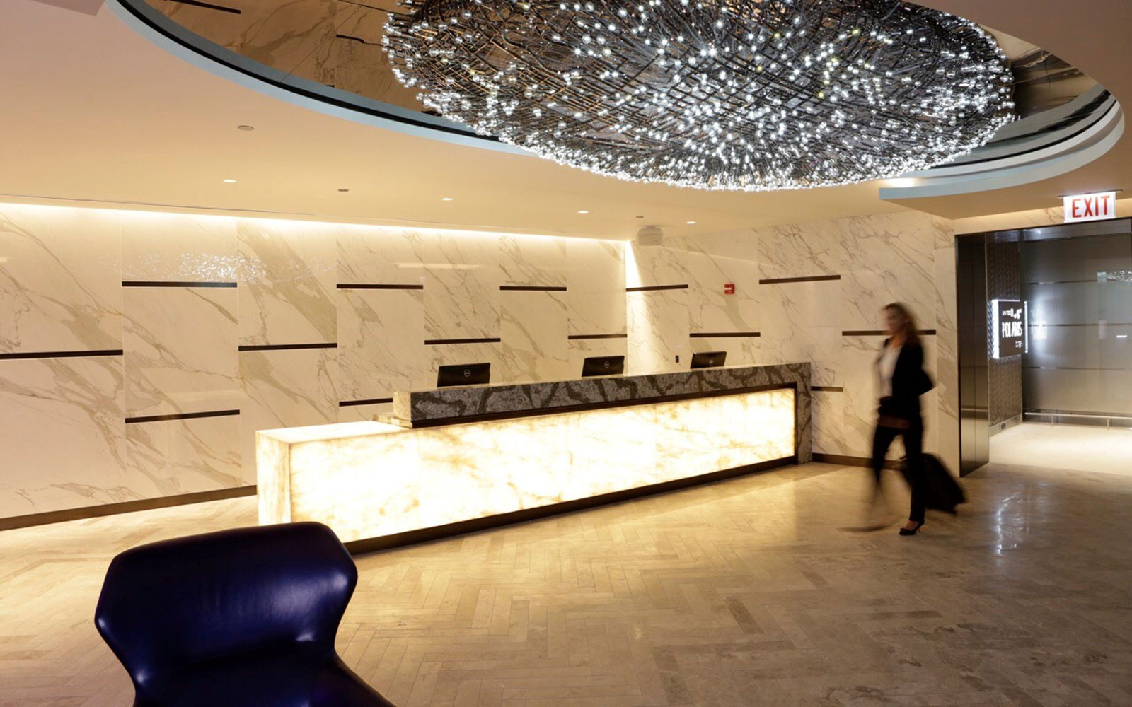 United unveiled its new Polaris lounge at Chicago O'Hare.