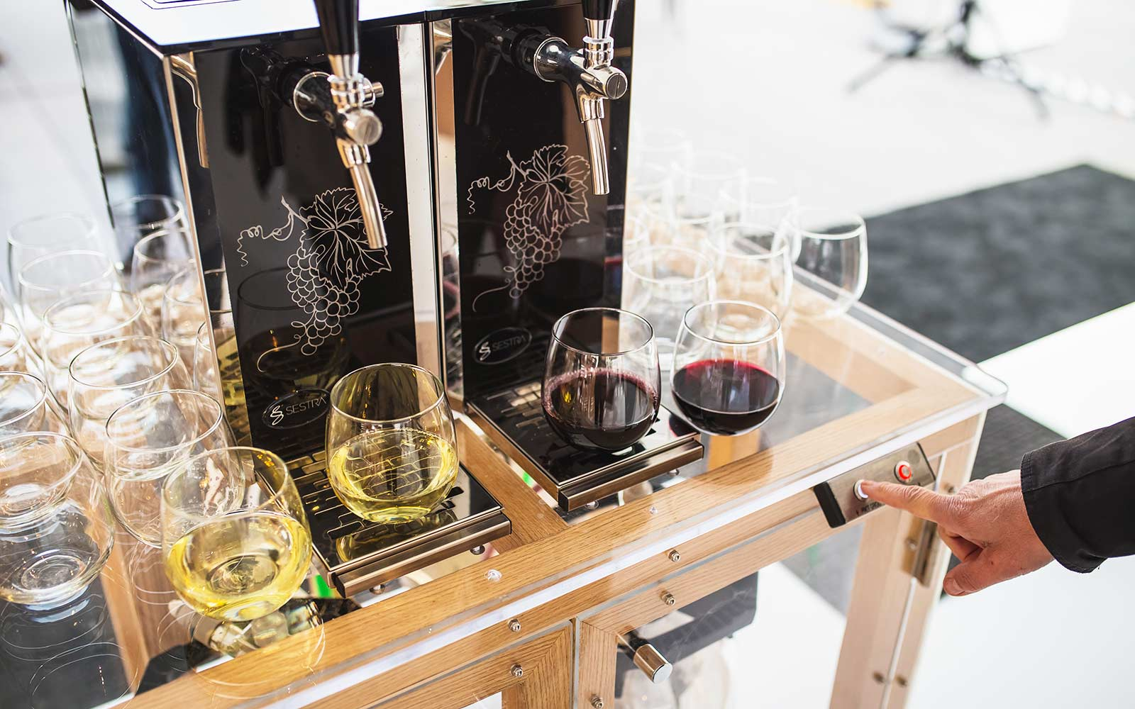 Use Your Room Key to Get Free Wine from a Hotel Drink Cart
