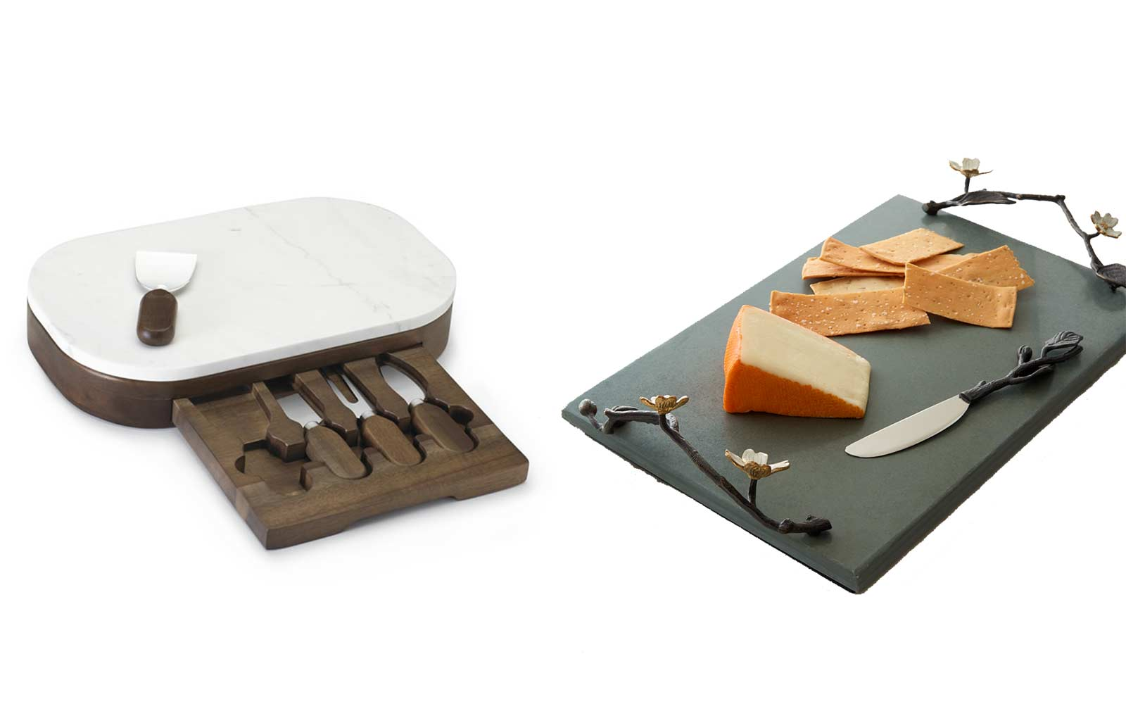 A Cheeseboard and Knife Set