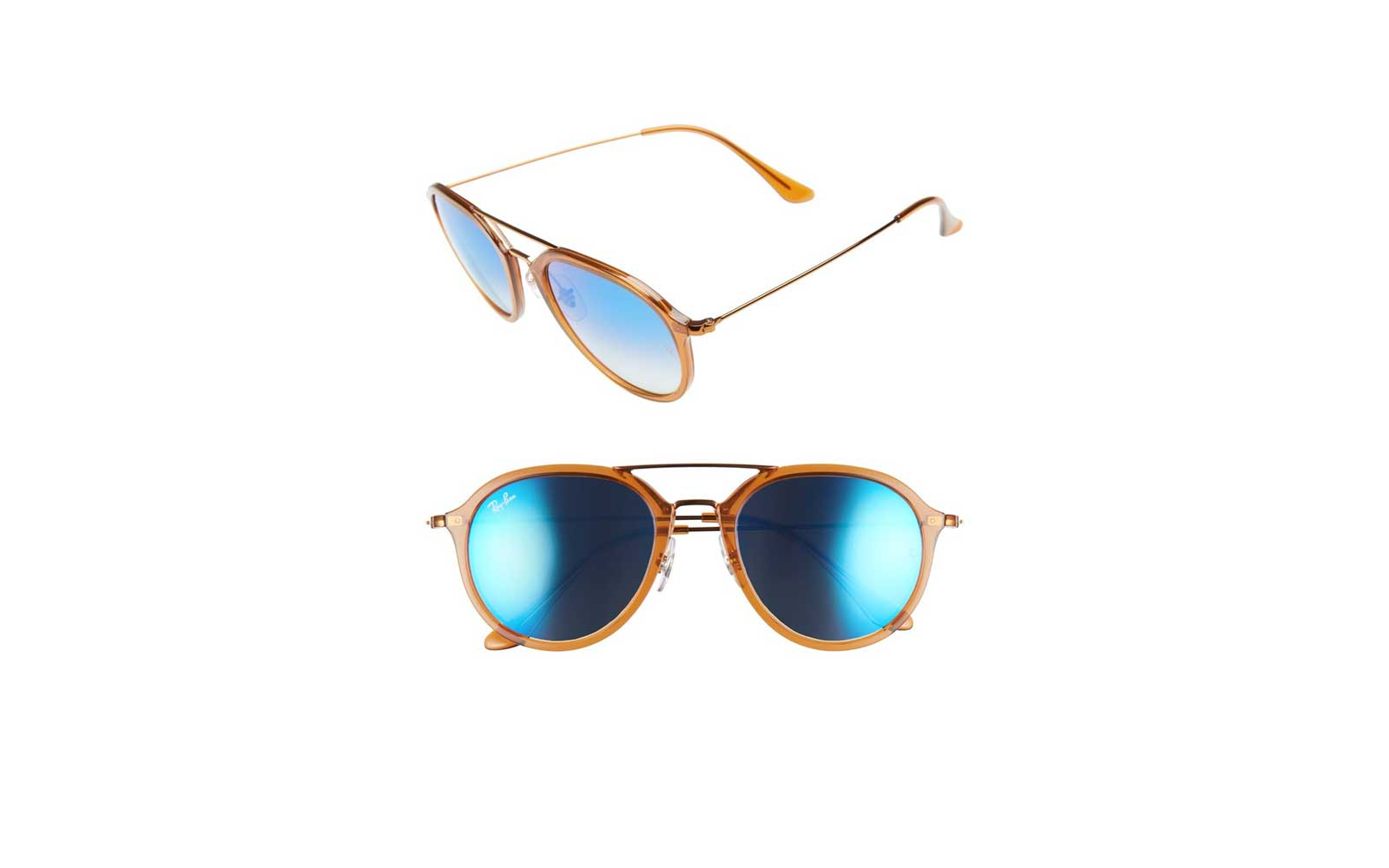 Ray Ban Aviator Sunglasses in Brown
