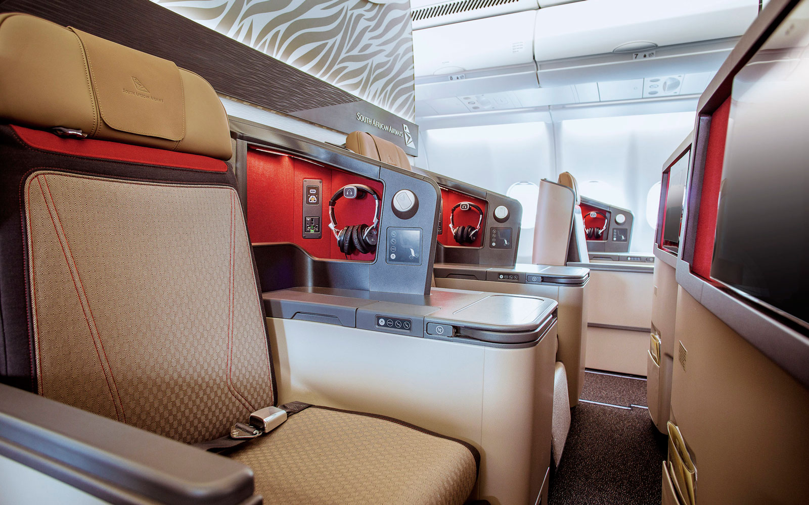 Flagship airlines use design elements to represent their countries.