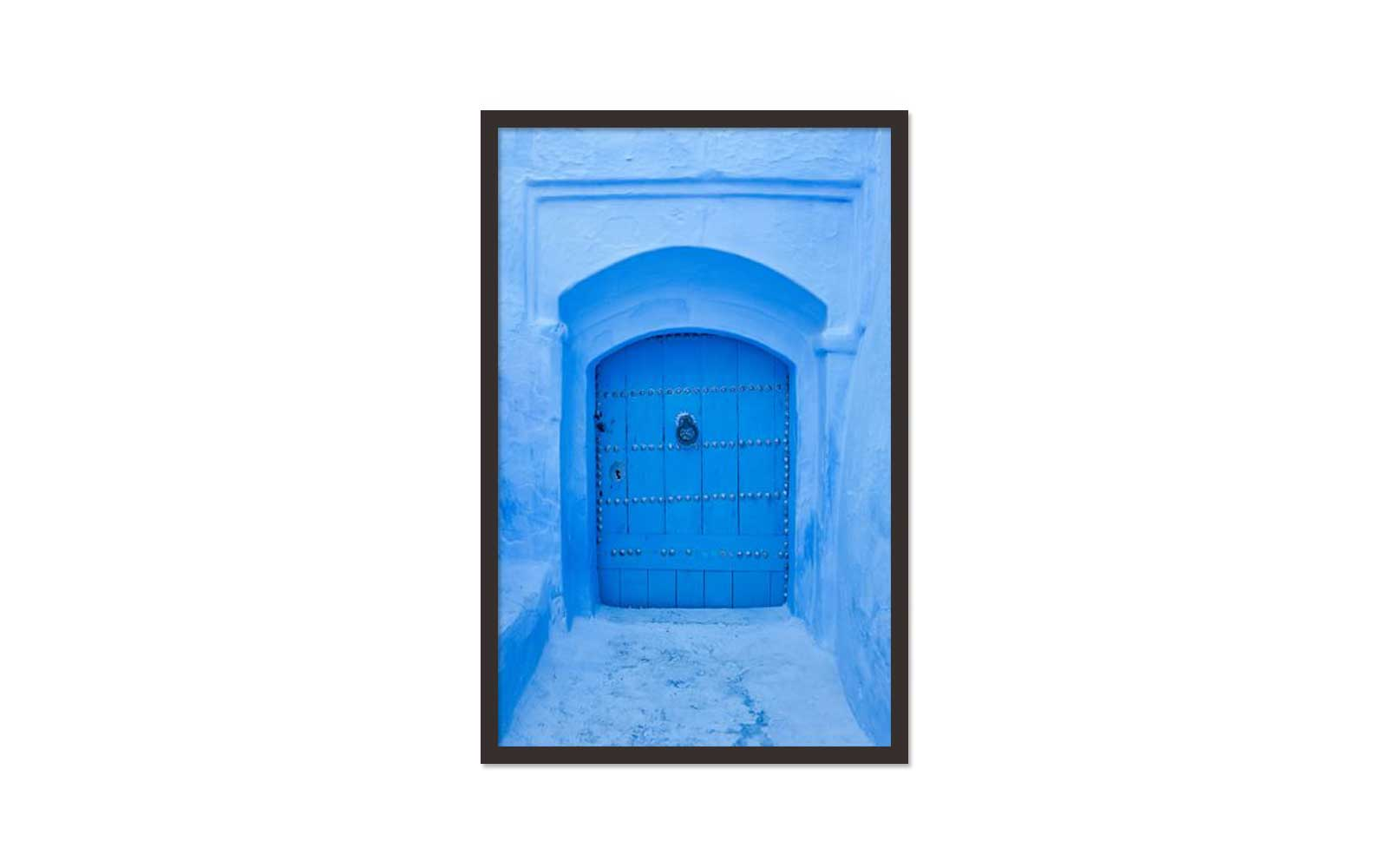 Framed Blue Door Print