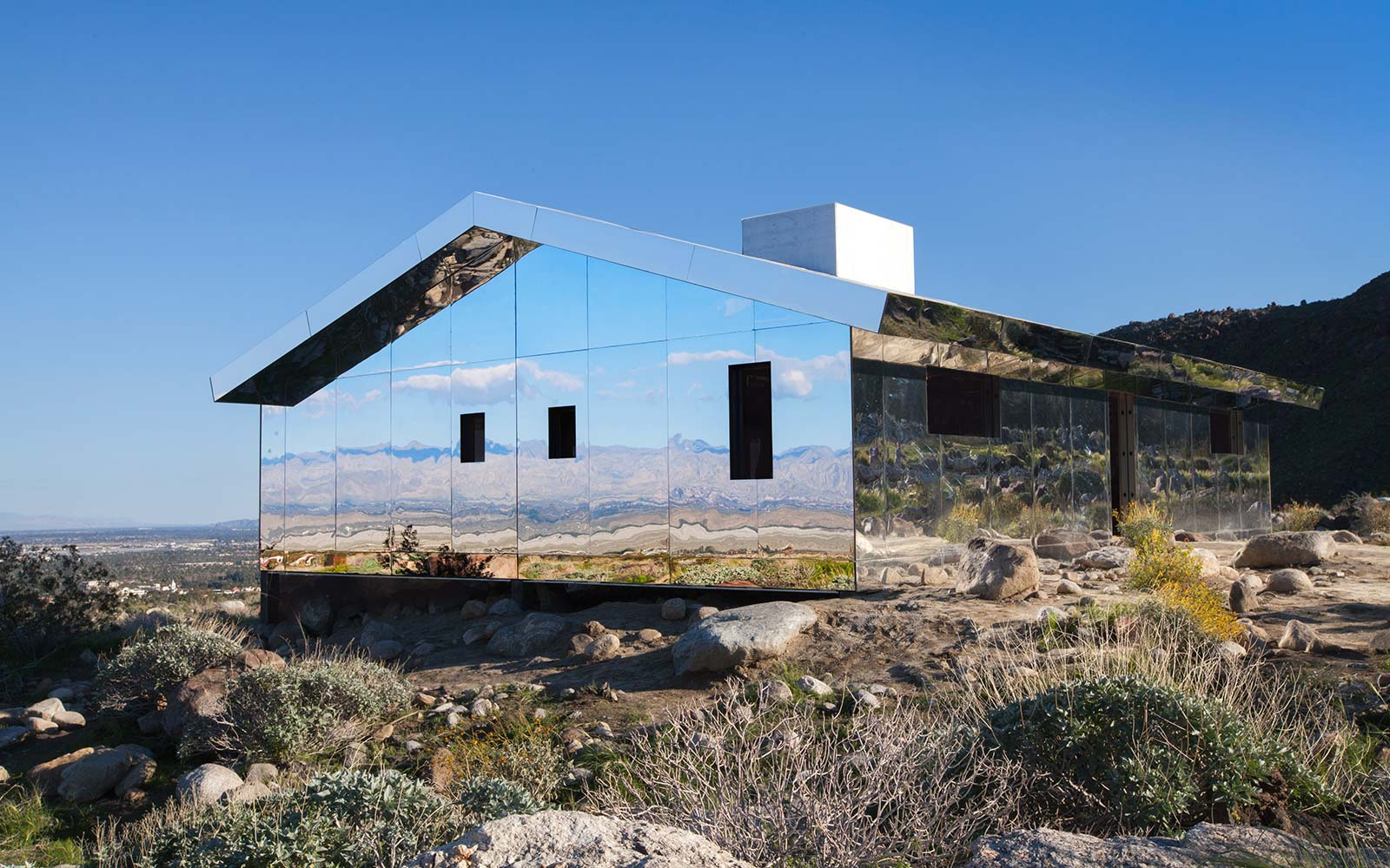 Doug Aitken Mirage Mirror House Desert X