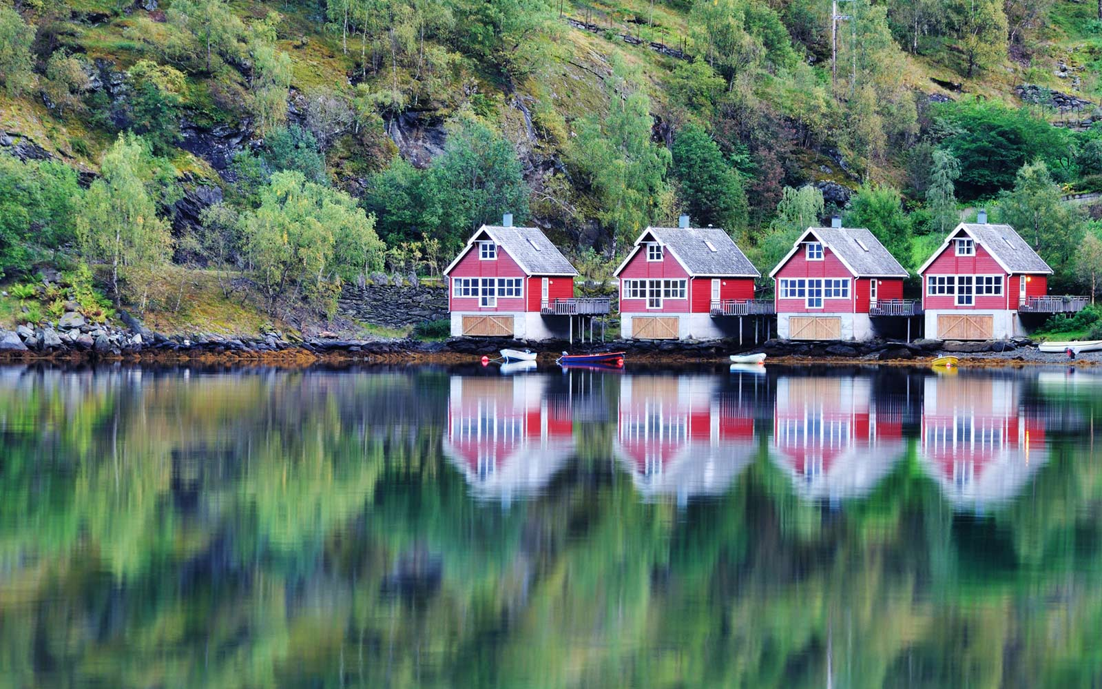 Fishing Huts, Flam, Norway