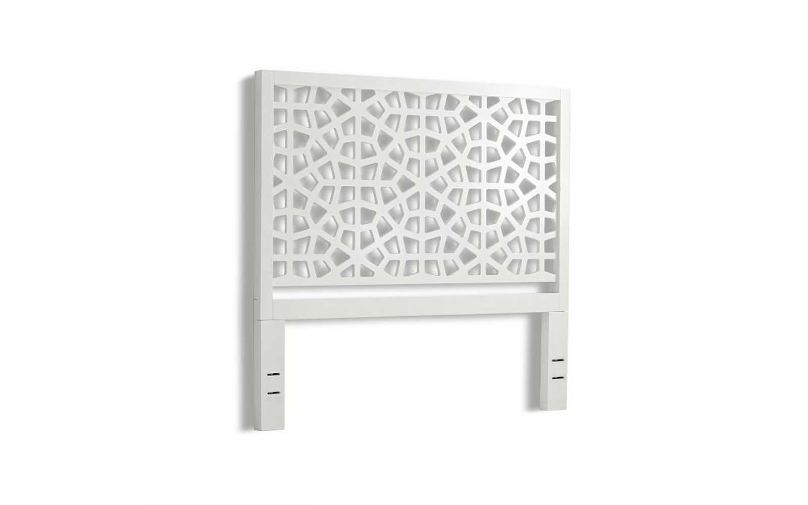 White Laser-Cut Headboard