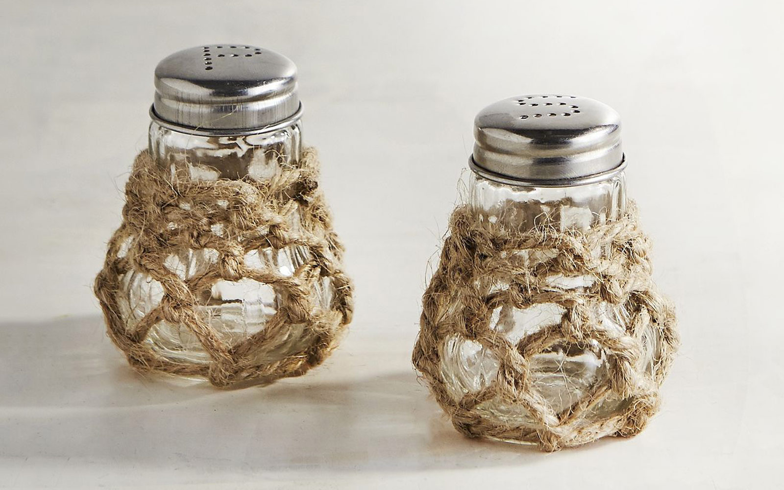 Rope Salt and Pepper Shakers