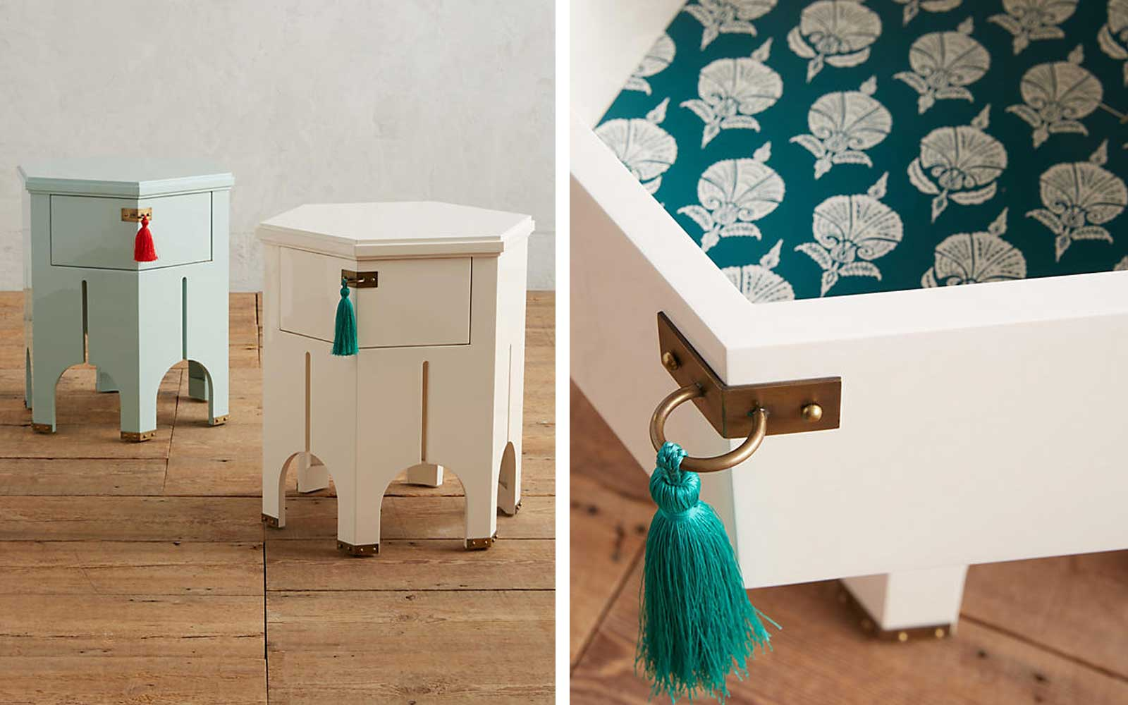 Tasseled Side Table
