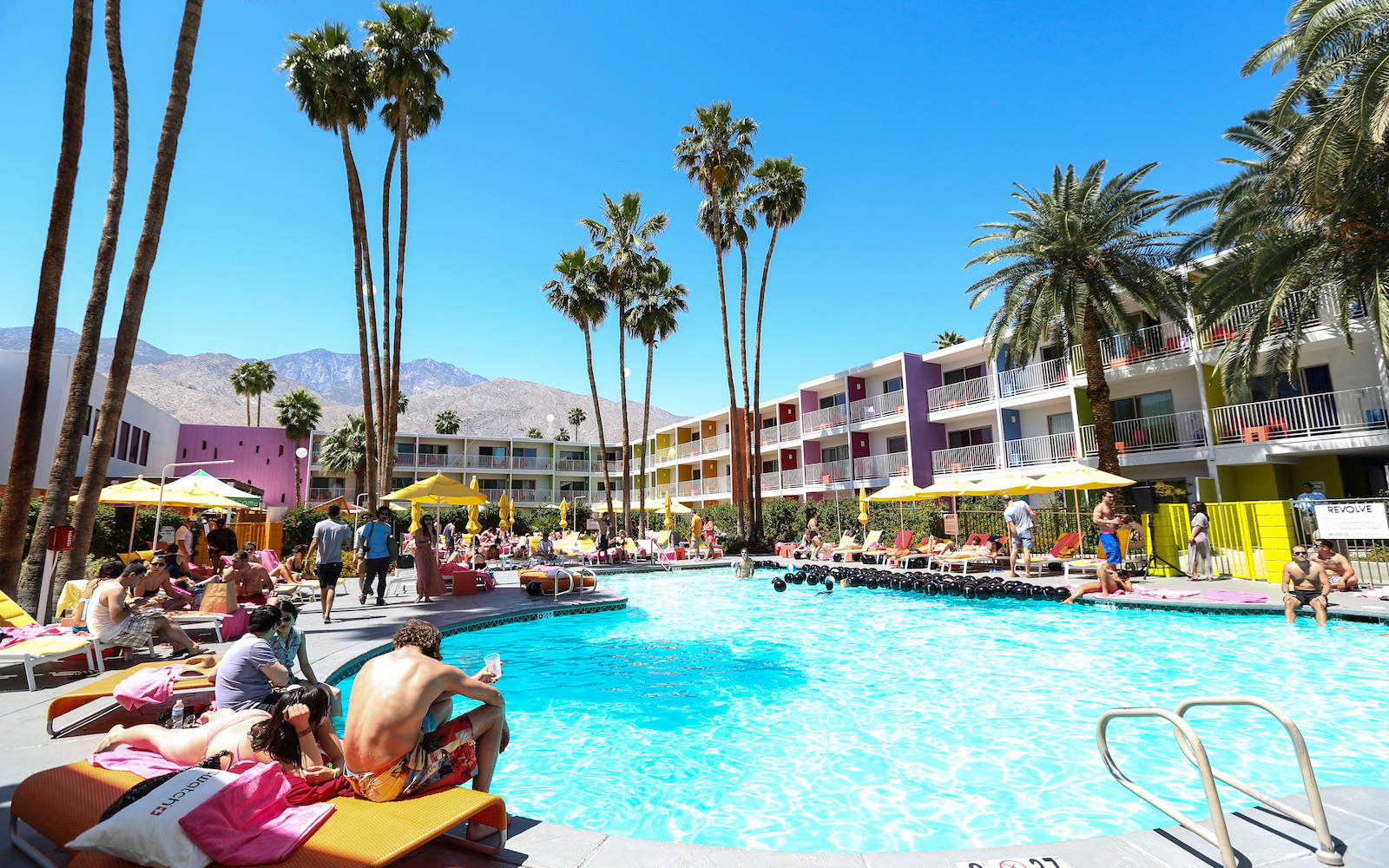 PALM SPRINGS, CA - APRIL 14:  A general view of the atmosphere at the House Of Holland eyewear pool party, hosted by Henry Holland and Io Echo, to launch the brand's new collection, in celebration of the Coachella Valley Music & Arts Festival 2013 at Sagu
