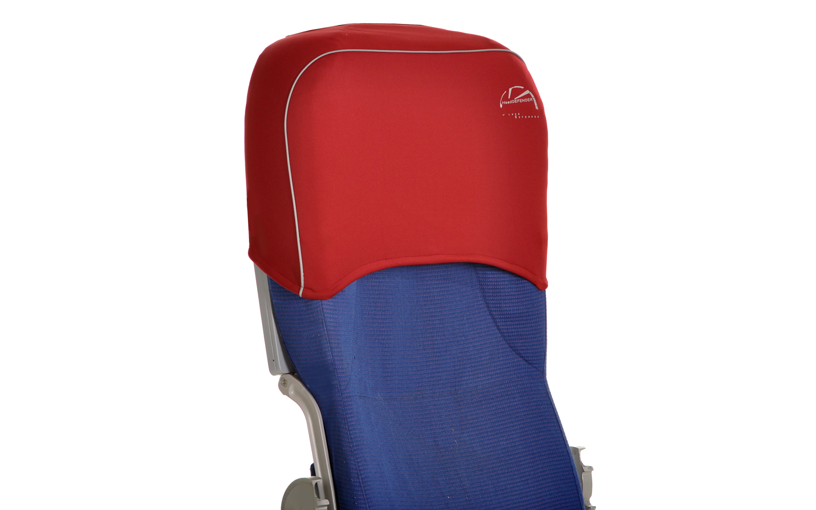 The HeadDEFENDER covers the top of your airplane seat.
