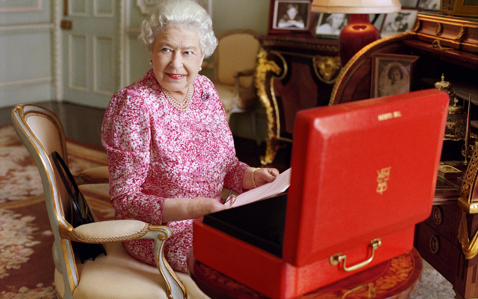Her Majesty Queen Elizabeth II photographed by Mary McCartney at Buckingham Palace