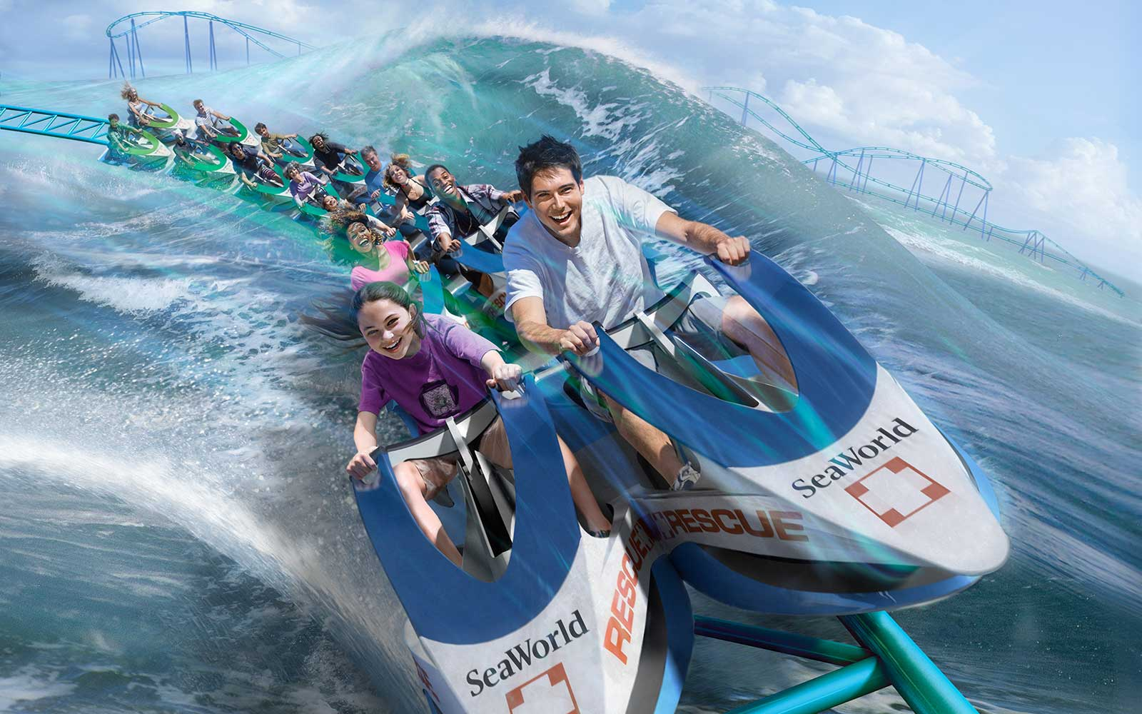 SeaWorld San Antonio, Texas — Wave Breaker: The Rescue Coaster