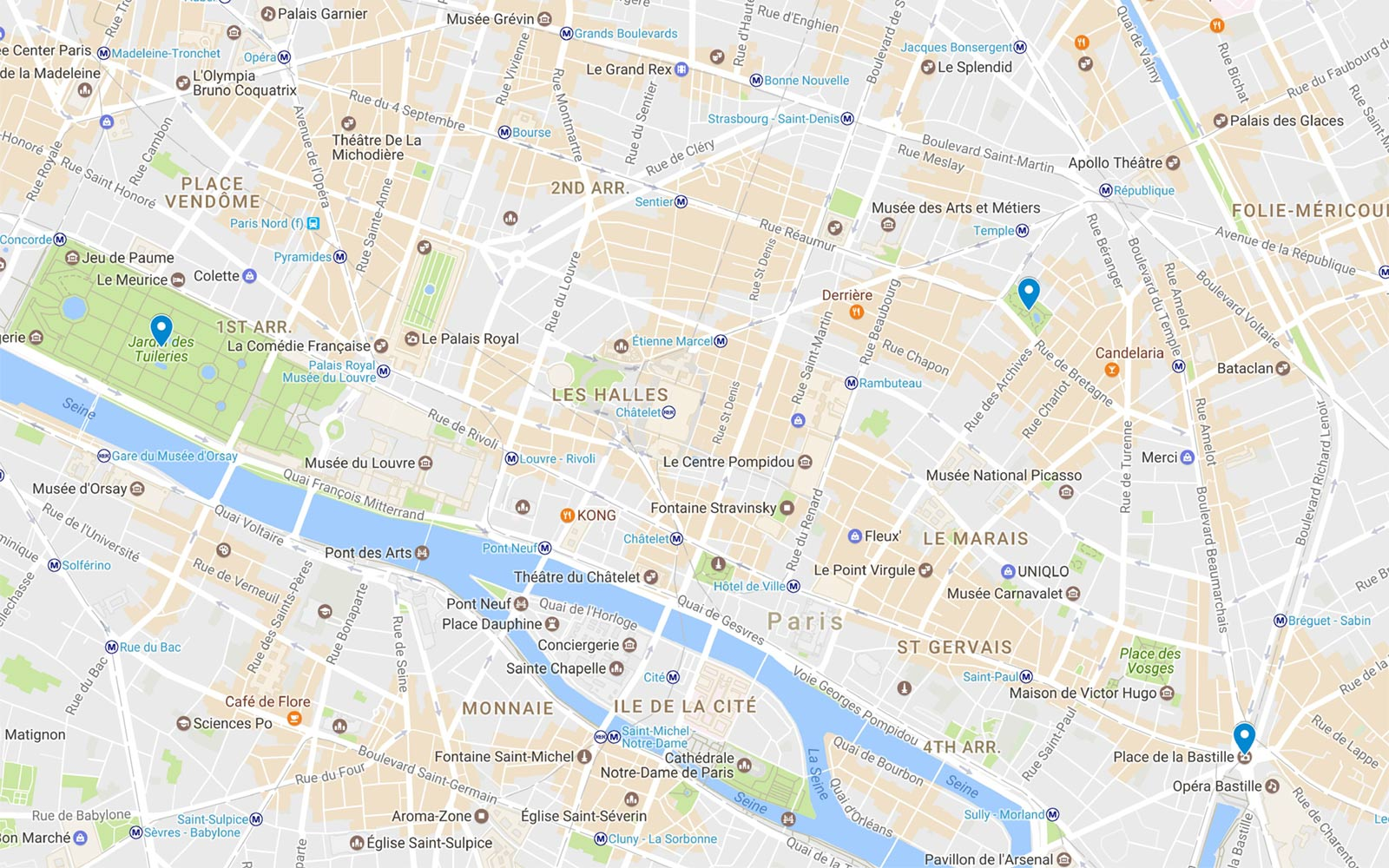Paris Itinerary, French Revolution