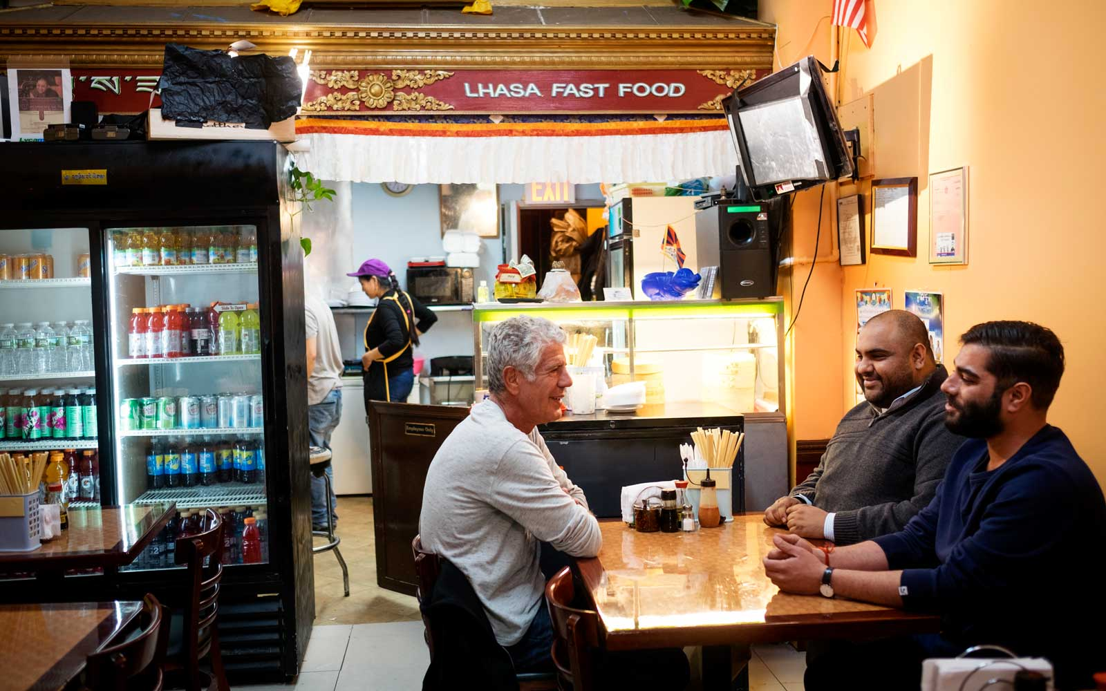 Anthony Bourdain films Parts Unknown Queens in New York, New York on November 11, 2016