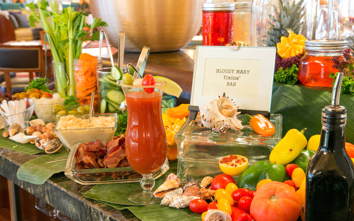 Bloody Mary bar at The Breakers, Palm Beach, Florida.