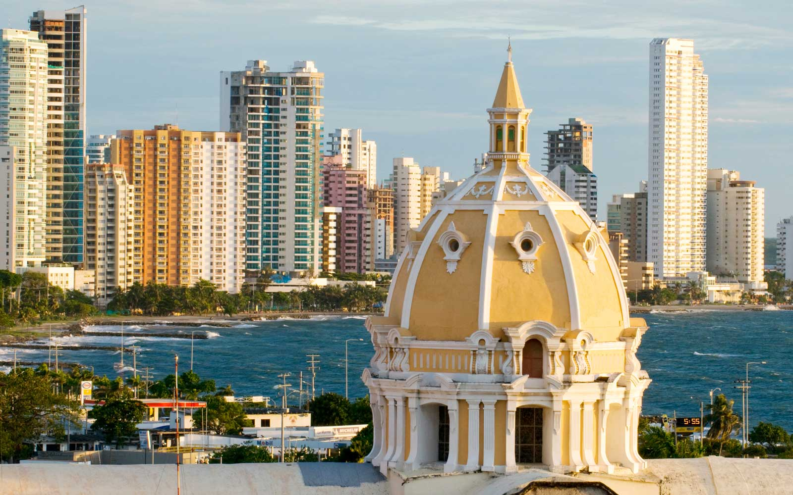 Bocagrande and Old Town Cartagena Colombia