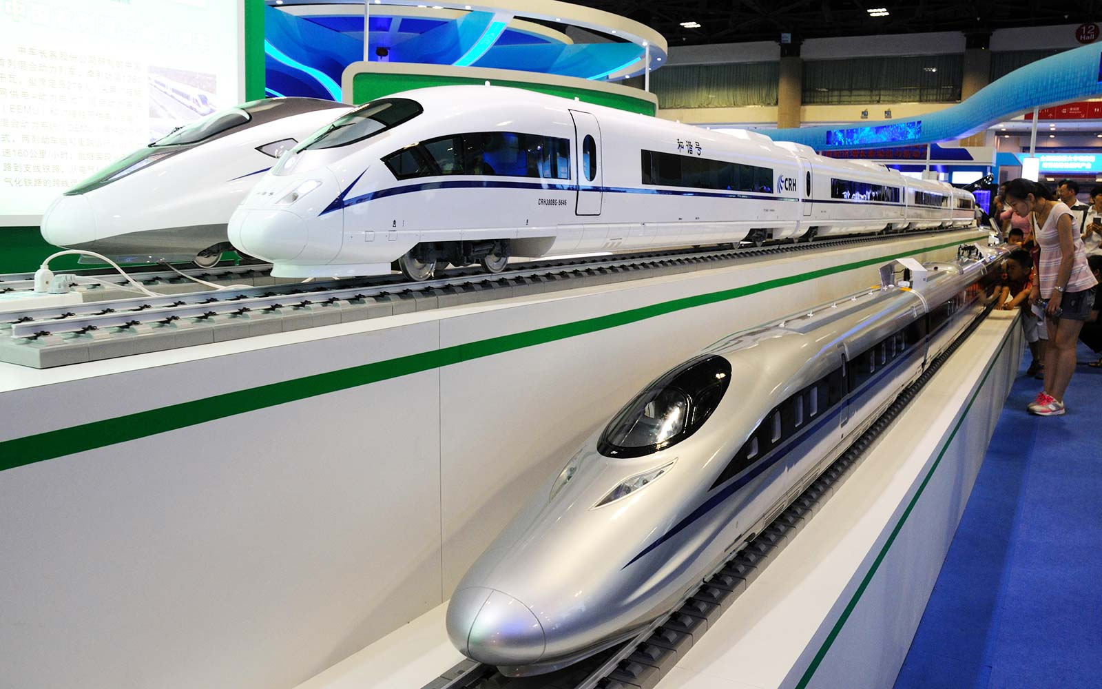 China Railway Rolling Stock Corporation (CRRC) high-speed bullet trains