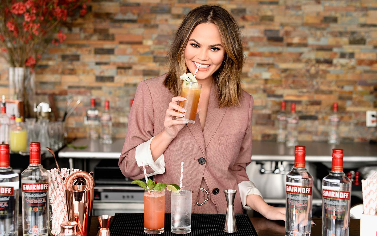 Chrissy Teigen cocktail food