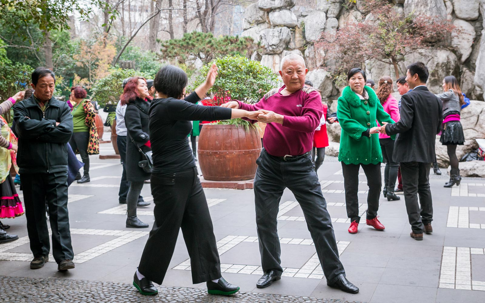 Dancing, People's Park, Chengdu, China