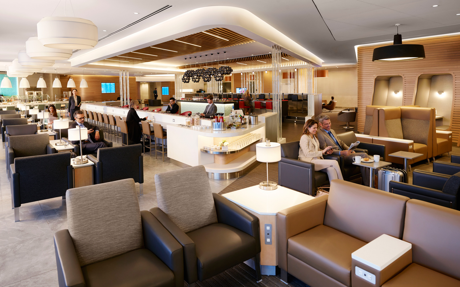 Flagship lounge at JFK.