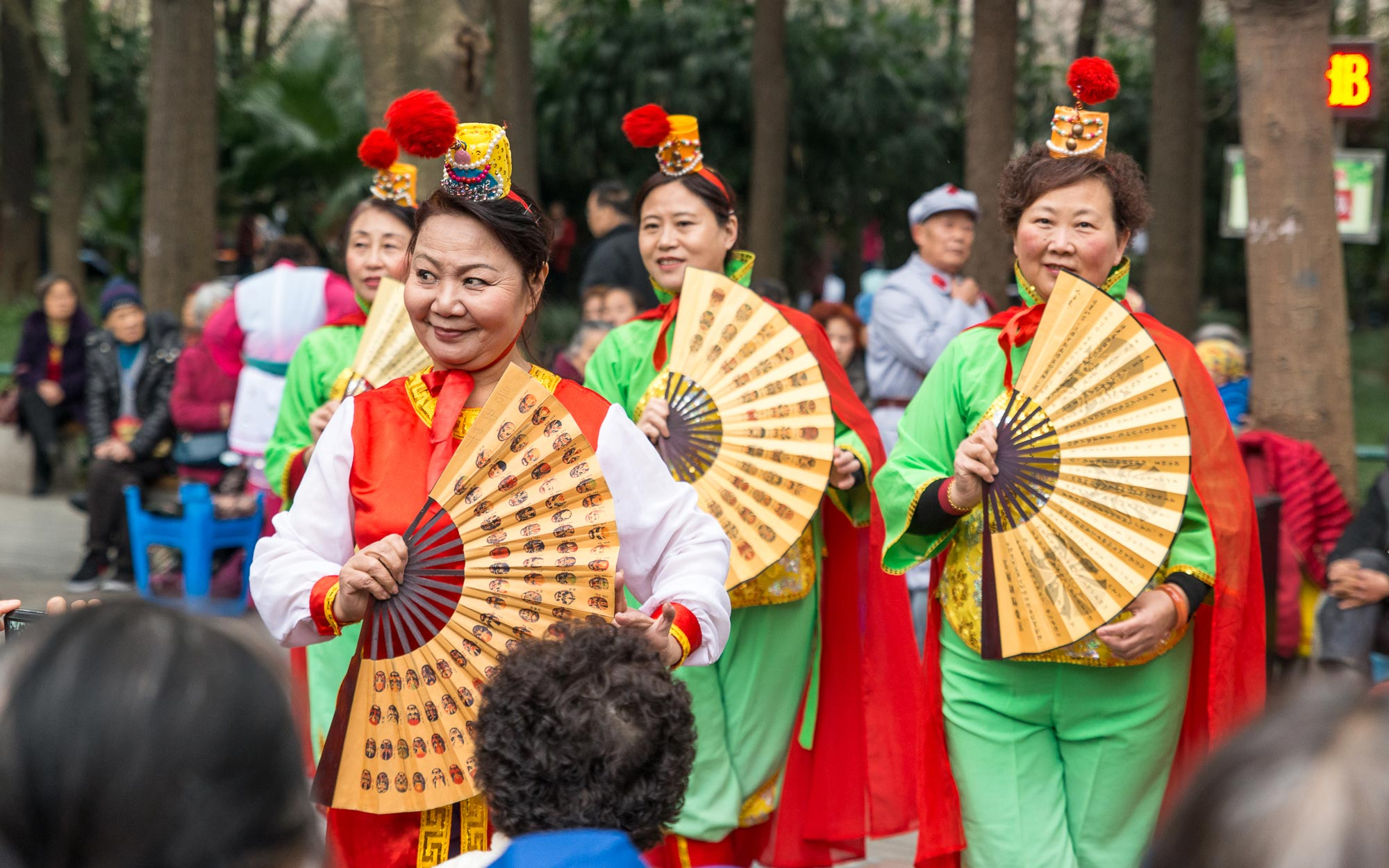 Women's Day Celebration, People's Park, Chengdu, China