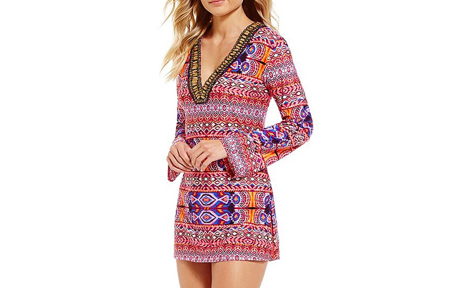La Blanca Global Perspective Tunic Cover-up