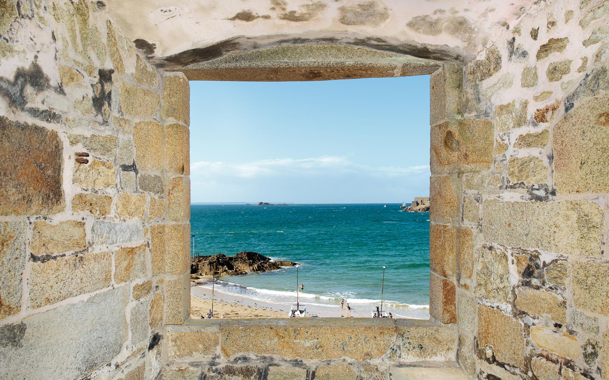 Mole Beach in Saint Malo France