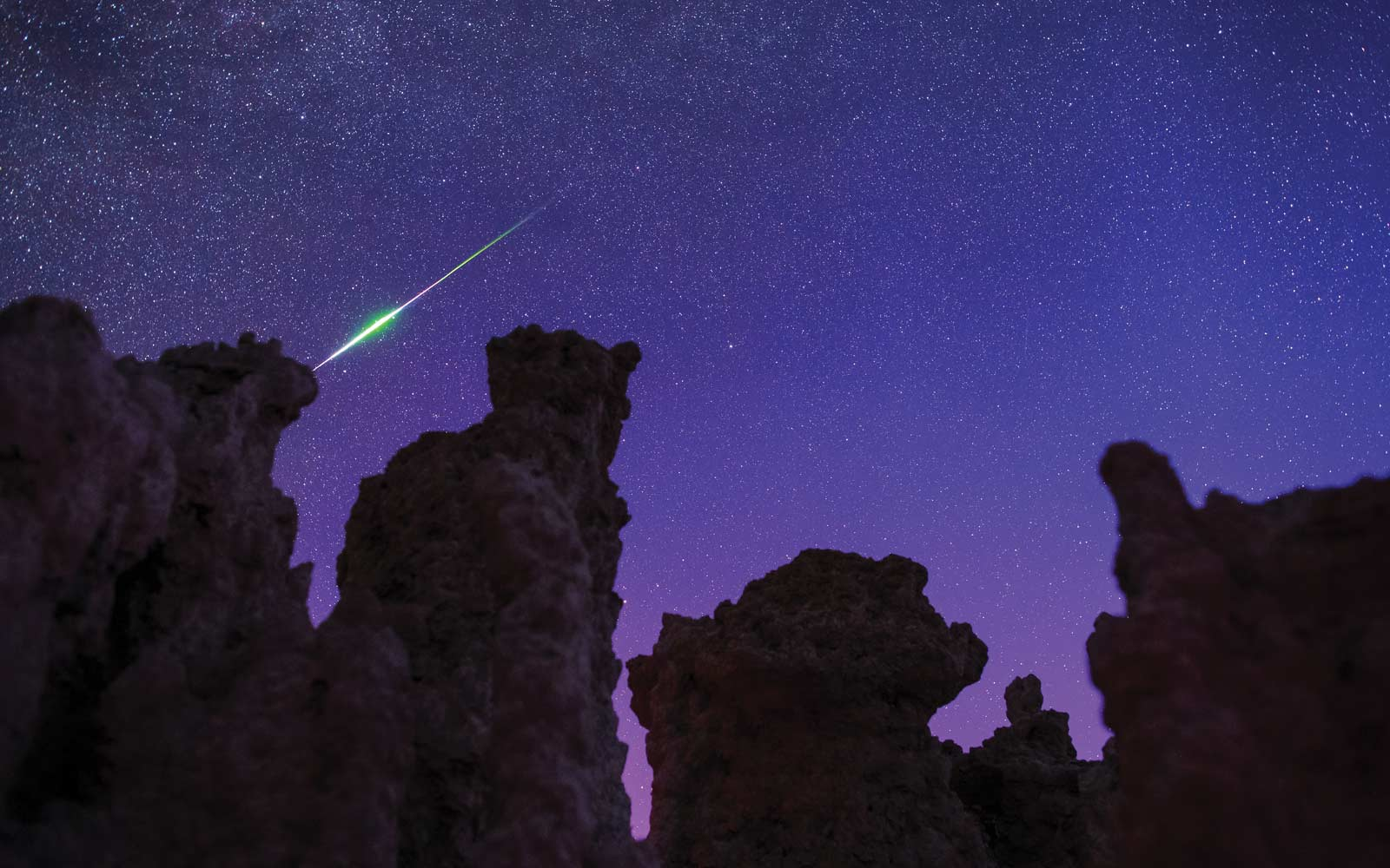 Perseids Meteor, Mono Lake, California