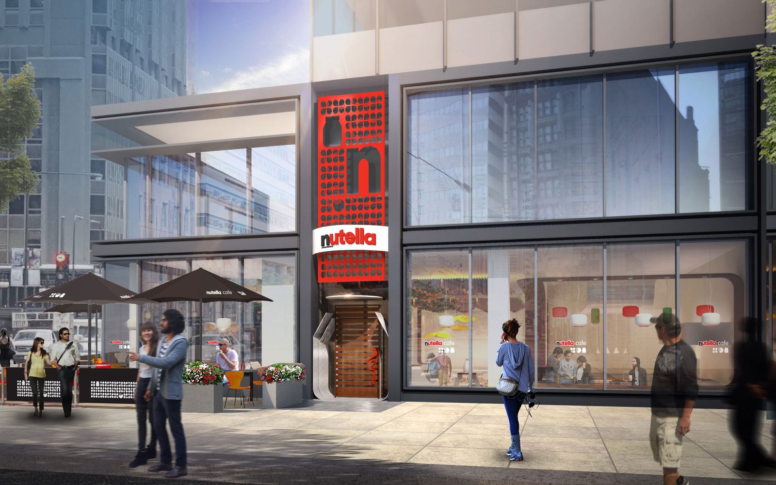 nutella cafe rendering