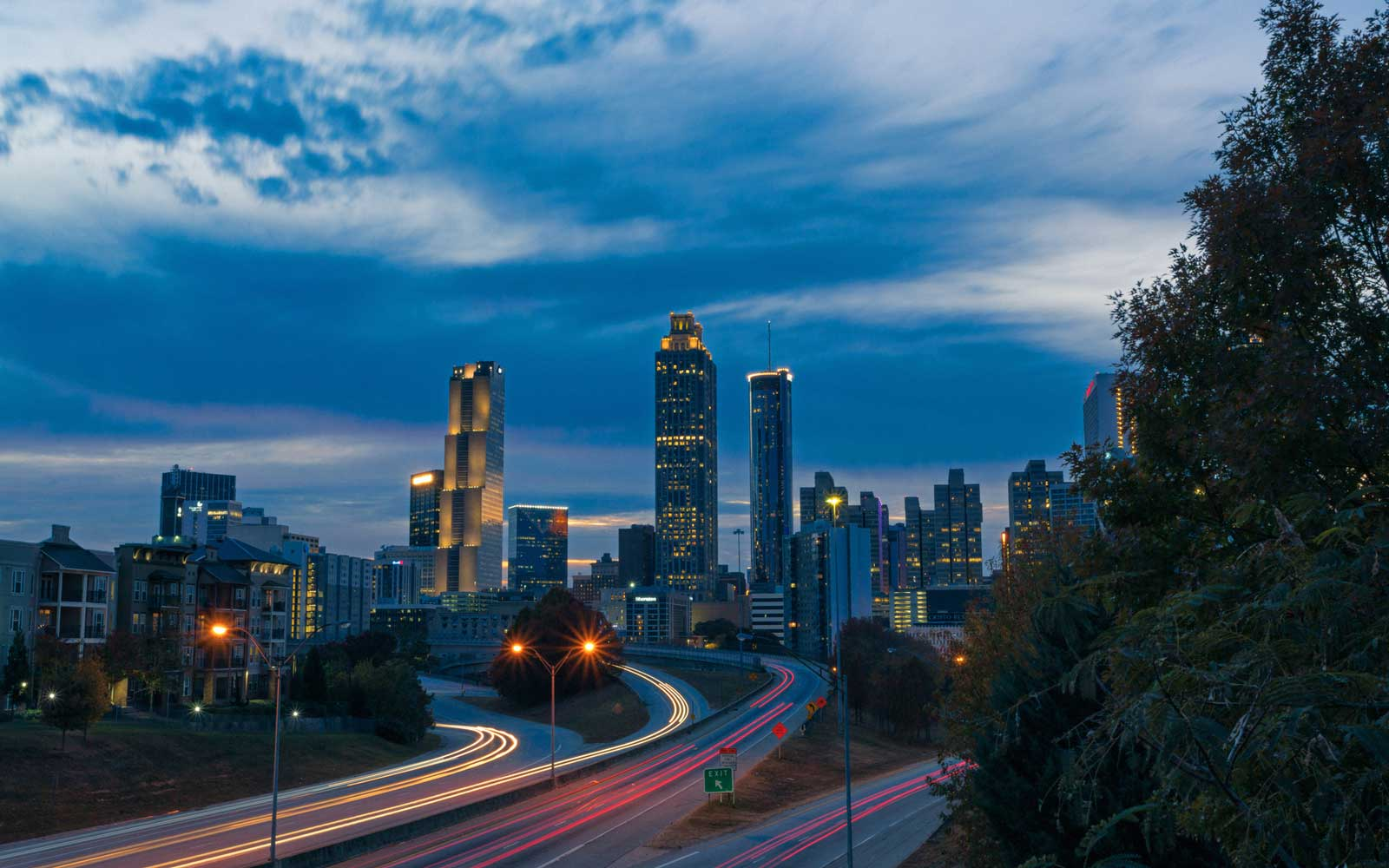 Cityscape of the Atlanta, Georgia skyline.