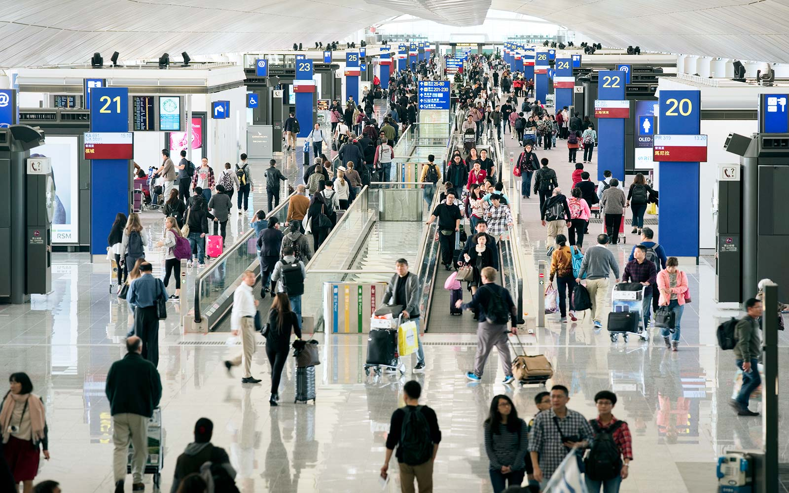 Hong Kong International Airport terminal SITA passenger study