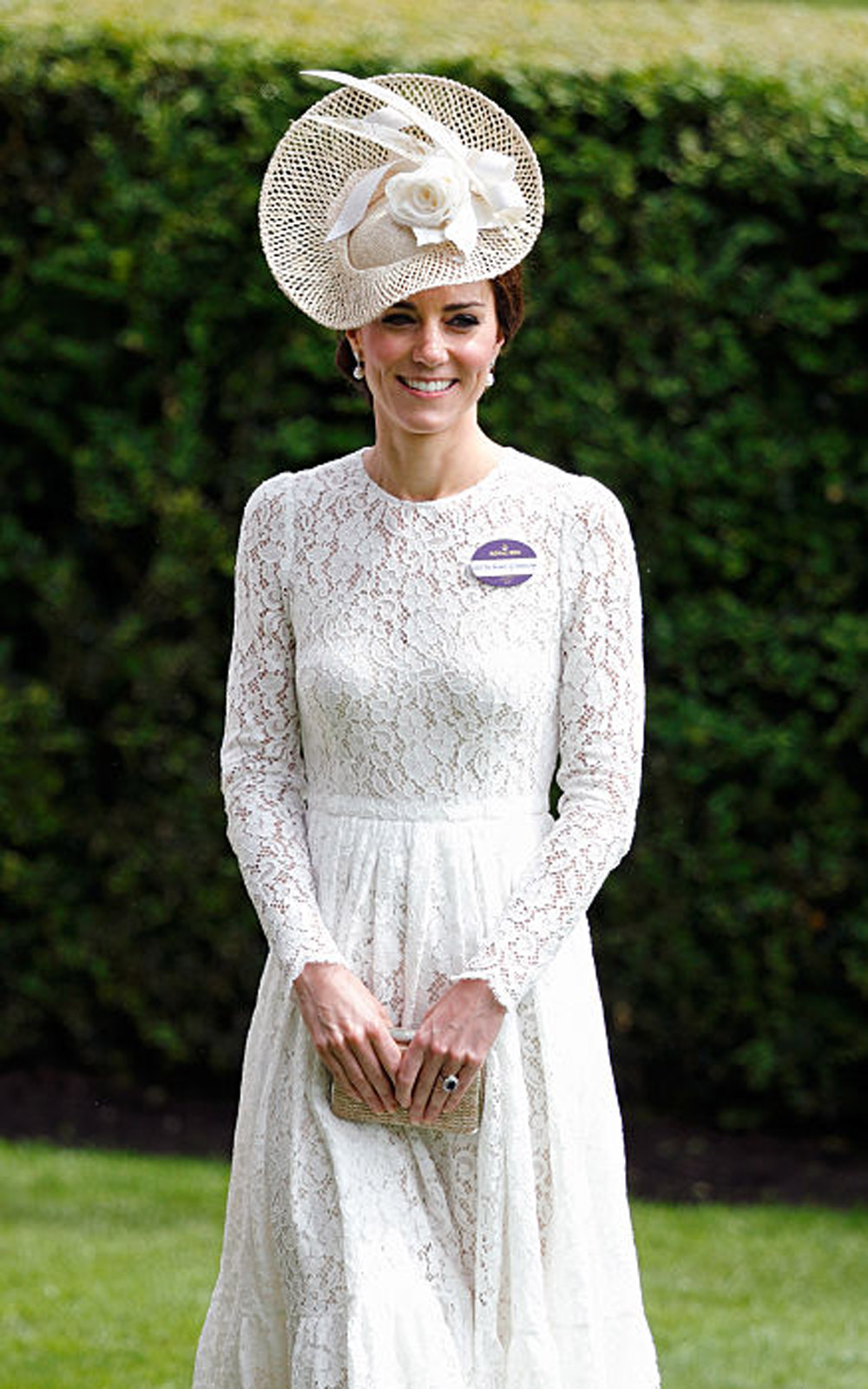 ASCOT, UNITED KINGDOM - JUNE 15: (EMBARGOED FOR PUBLICATION IN UK NEWSPAPERS UNTIL 48 HOURS AFTER CREATE DATE AND TIME) Catherine, Duchess of Cambridge attends day 2 of Royal Ascot at Ascot Racecourse on June 15, 2016 in Ascot, England. (Photo by Max Mumb