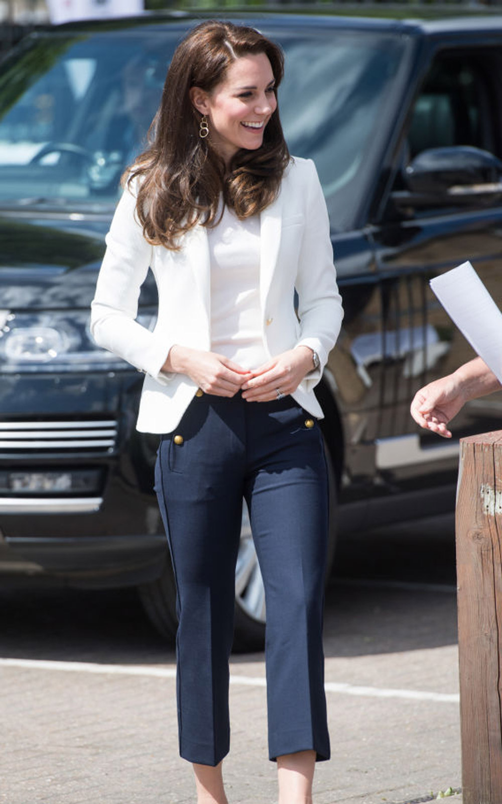 LONDON, ENGLAND - JUNE 16:  Catherine, Duchess of Cambridge visits the 1851 Trust roadshow at Docklands Sailing and Watersports Centre on June 16, 2017 in London, England.  The Duchess of Cambridge is patron of the 1851 Trust.  (Photo by Samir Hussein/Sam