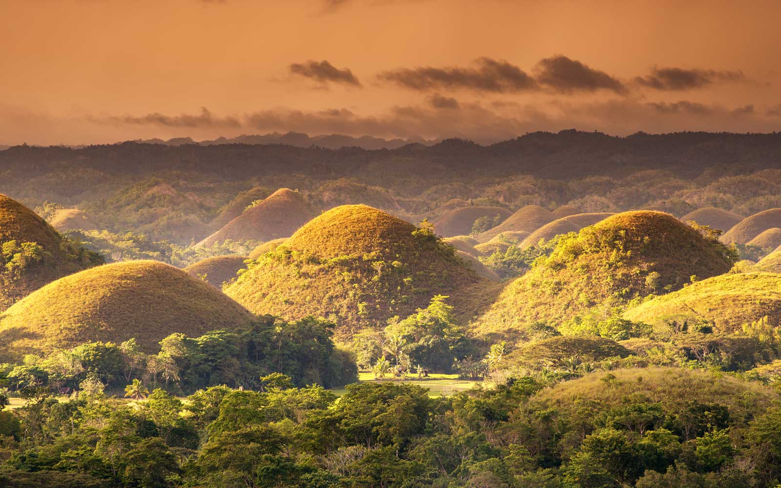 The Chocolate Hills are a unique geological formation in the Bohol, Philippines