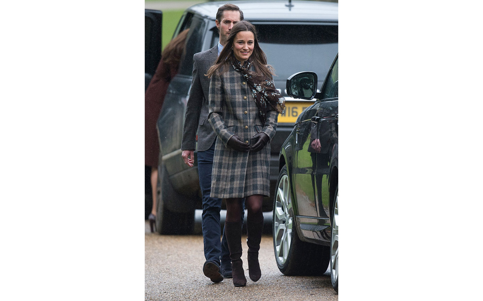 BUCKLEBURY, BERKSHIRE - DECEMBER 25:  Pippa Middleton attends church on Christmas Day on December 25, 2016 in Bucklebury, Berkshire.  (Photo by Samir Hussein/Samir Hussein/WireImage)