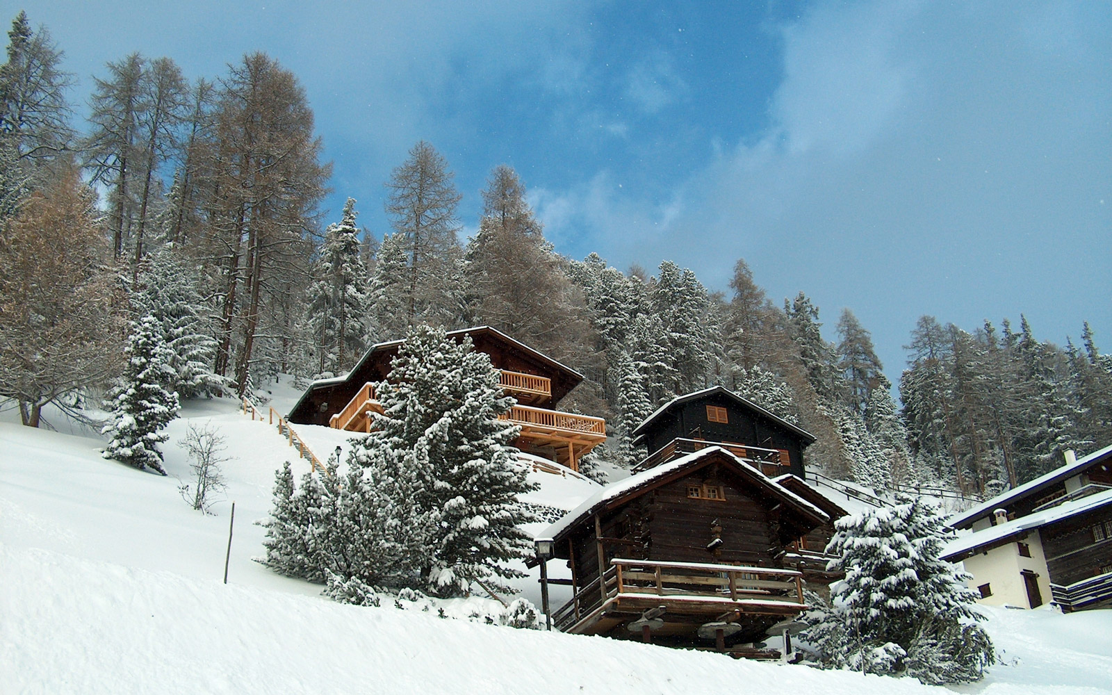 Some chalets (cottages) in the village of Chandolin (swiss alps).