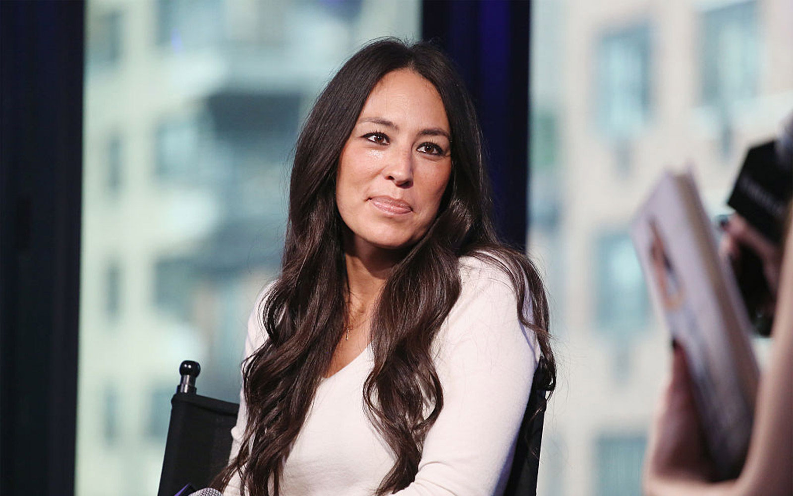 """NEW YORK, NY - OCTOBER 19:  The Build Series presents Joanna Gaines to discuss the new book """"The Magnolia Story"""" at AOL HQ on October 19, 2016 in New York City.  (Photo by Mireya Acierto/FilmMagic)"""