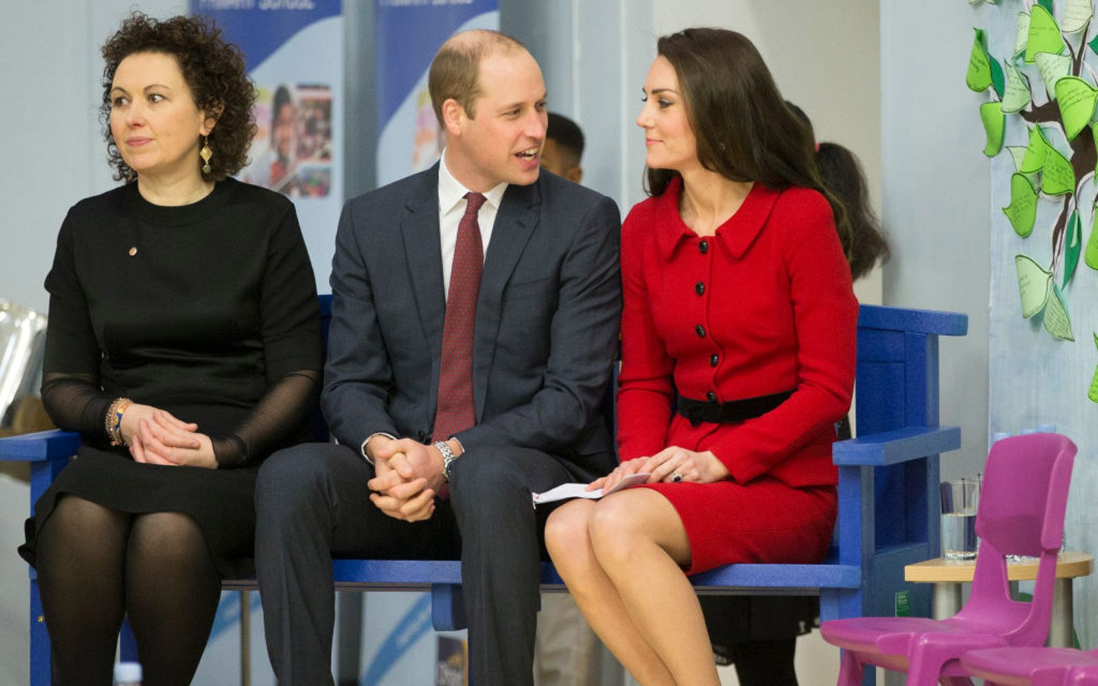 LONDON, ENGLAND - FEBRUARY 06: Prince William, Duke of Cambridge and Catherine, Duchess of Cambridge attend the Place2Be Big Assembly With Heads Together for Children's Mental Health Week at Mitchell Brook Primary School on February 6, 2017 in London, Eng